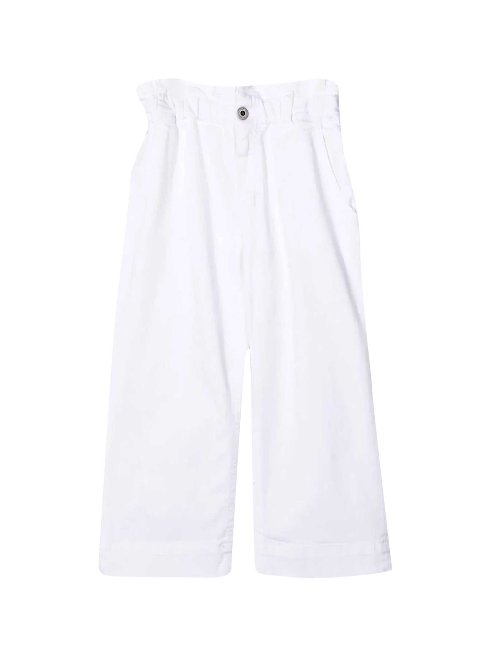 Dondup WHITE TROUSERS