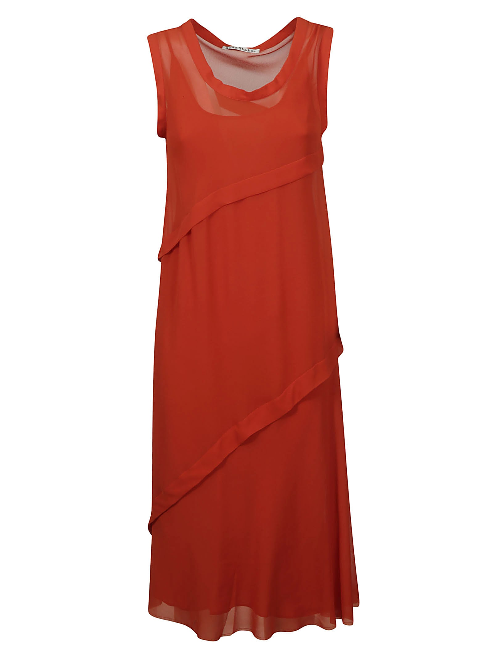 Buy Acne Studios Layered Sleeveless Lace Dress online, shop Acne Studios with free shipping