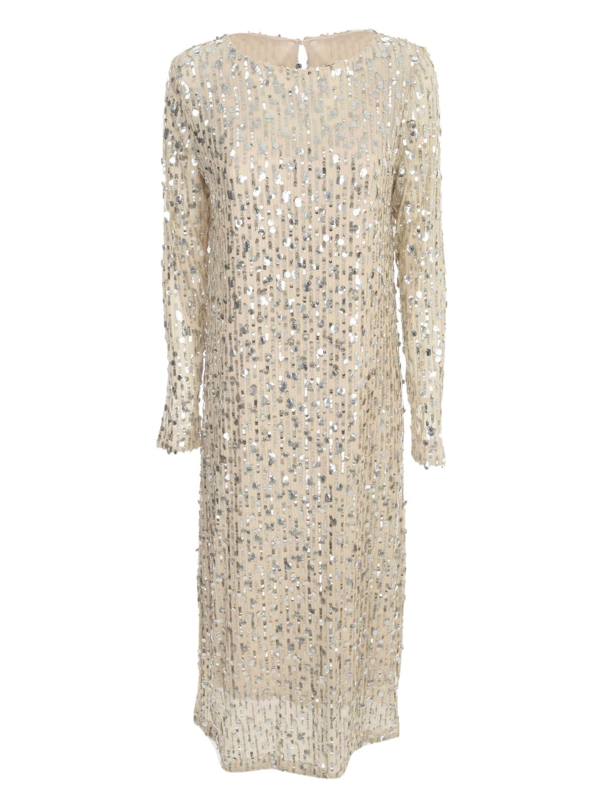 Buy In The Mood For Love Round Neck Long Sleeved Sequin Dress online, shop In The Mood For Love with free shipping