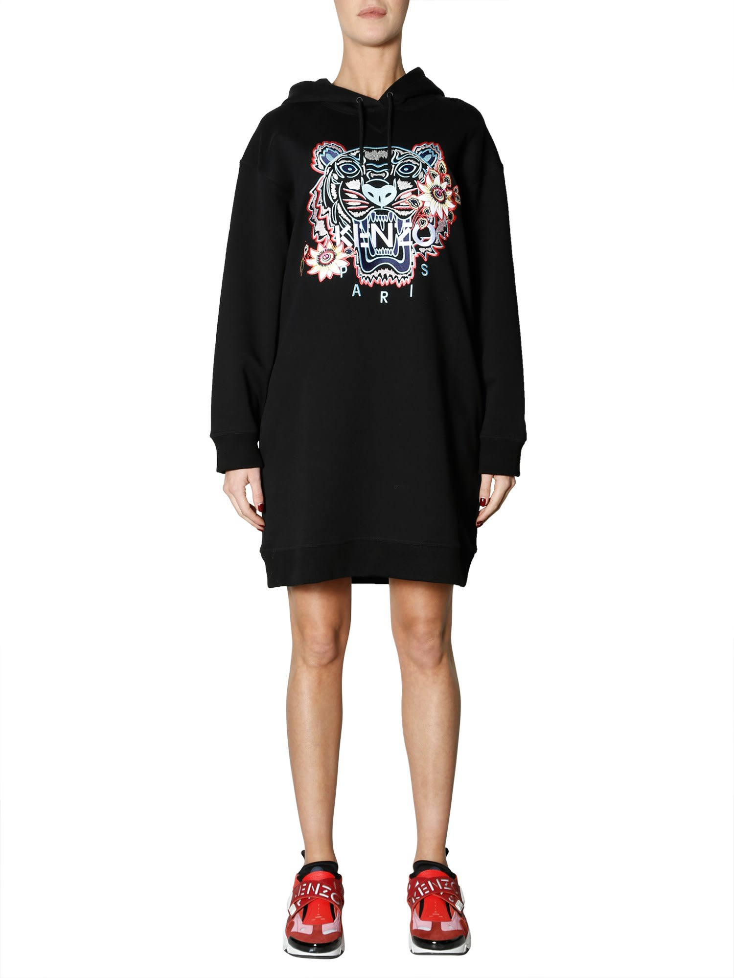 Kenzo Hooded Sweatshirt Dress
