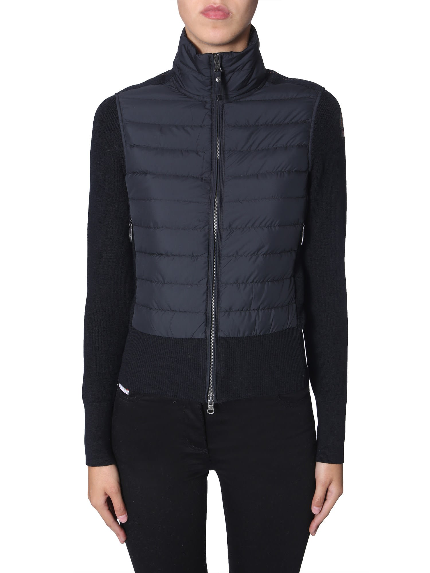 Parajumpers Down Jacket With Knitted Details