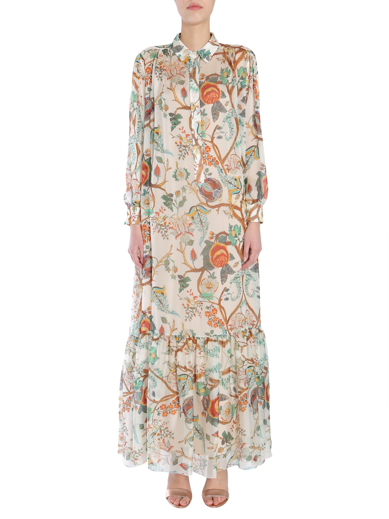 Alberta Ferretti Long Silk Dress