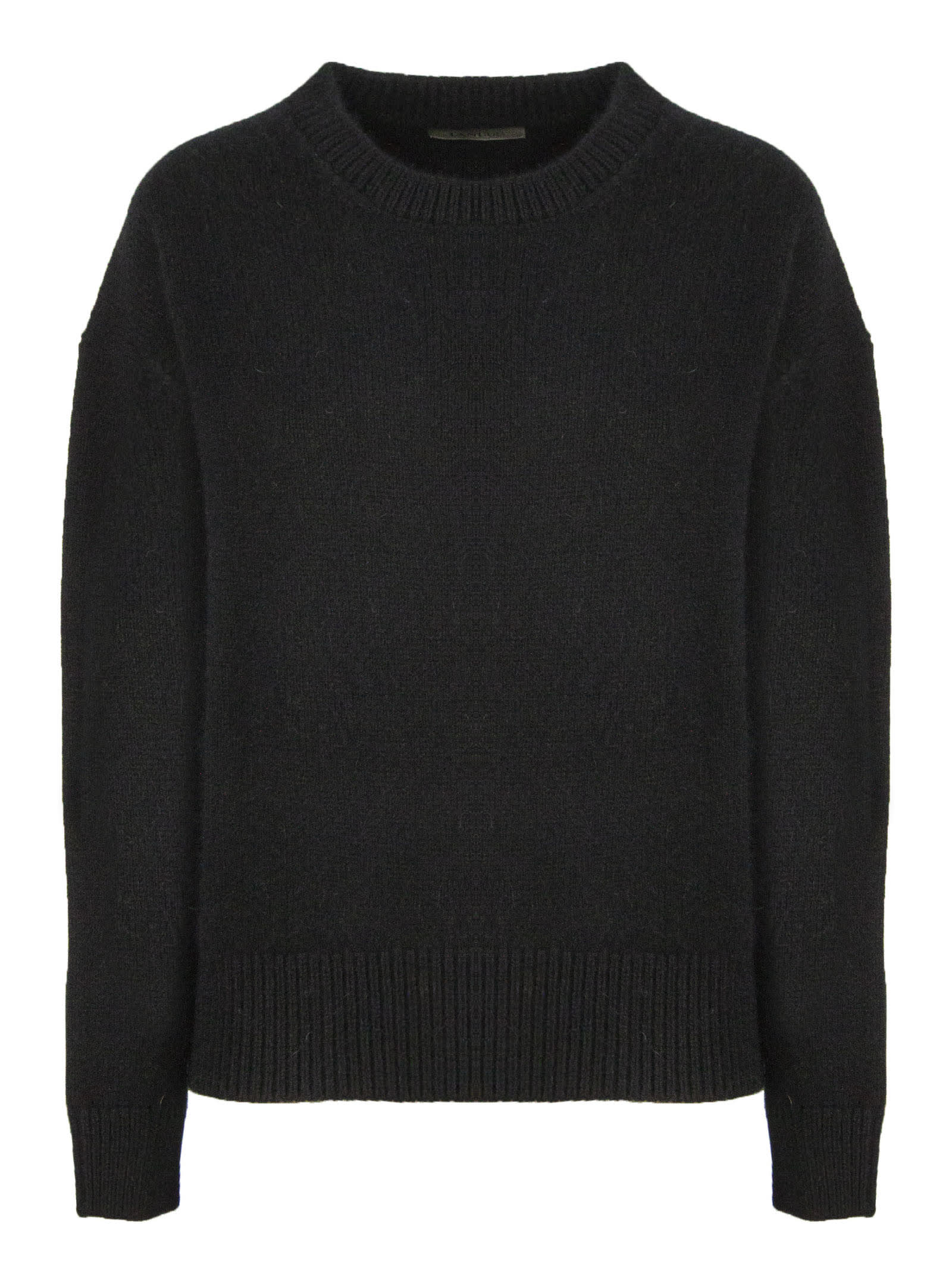 Laneus Black Wool-angora Blend Sweater In Nero