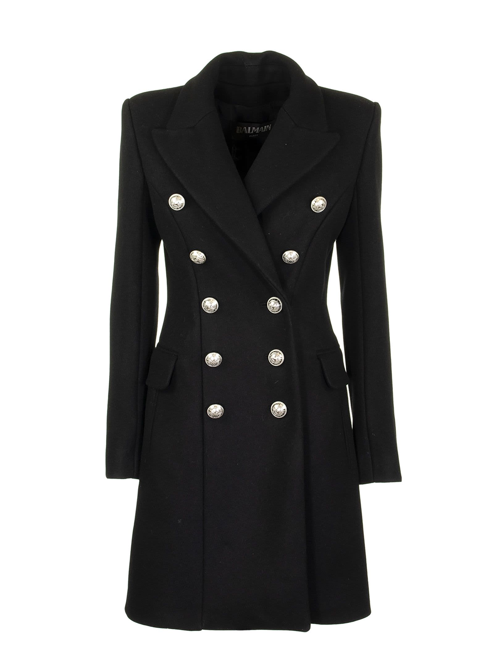 Photo of  Balmain Overcoat Noir- shop Balmain jackets online sales
