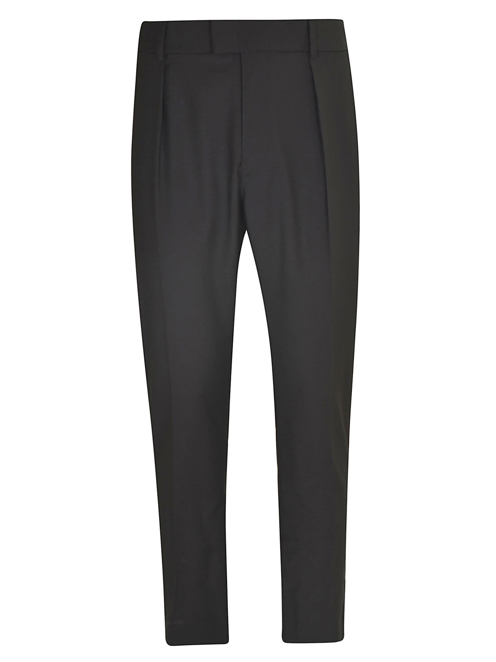 Les Hommes Double Waisted Casual Trousers