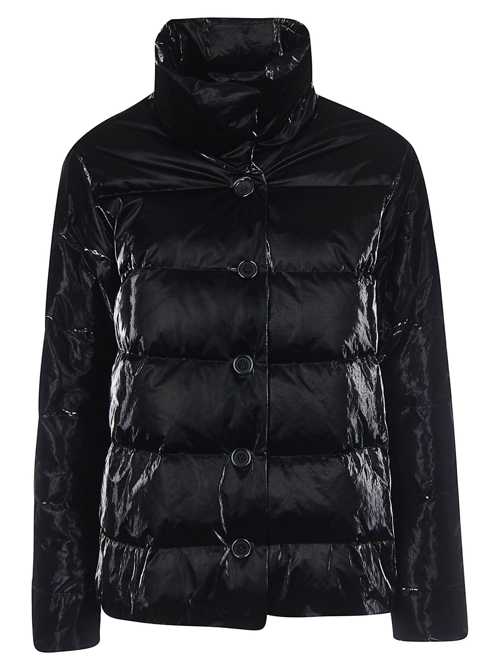 Aspesi Glossy Buttoned Padded Jacket