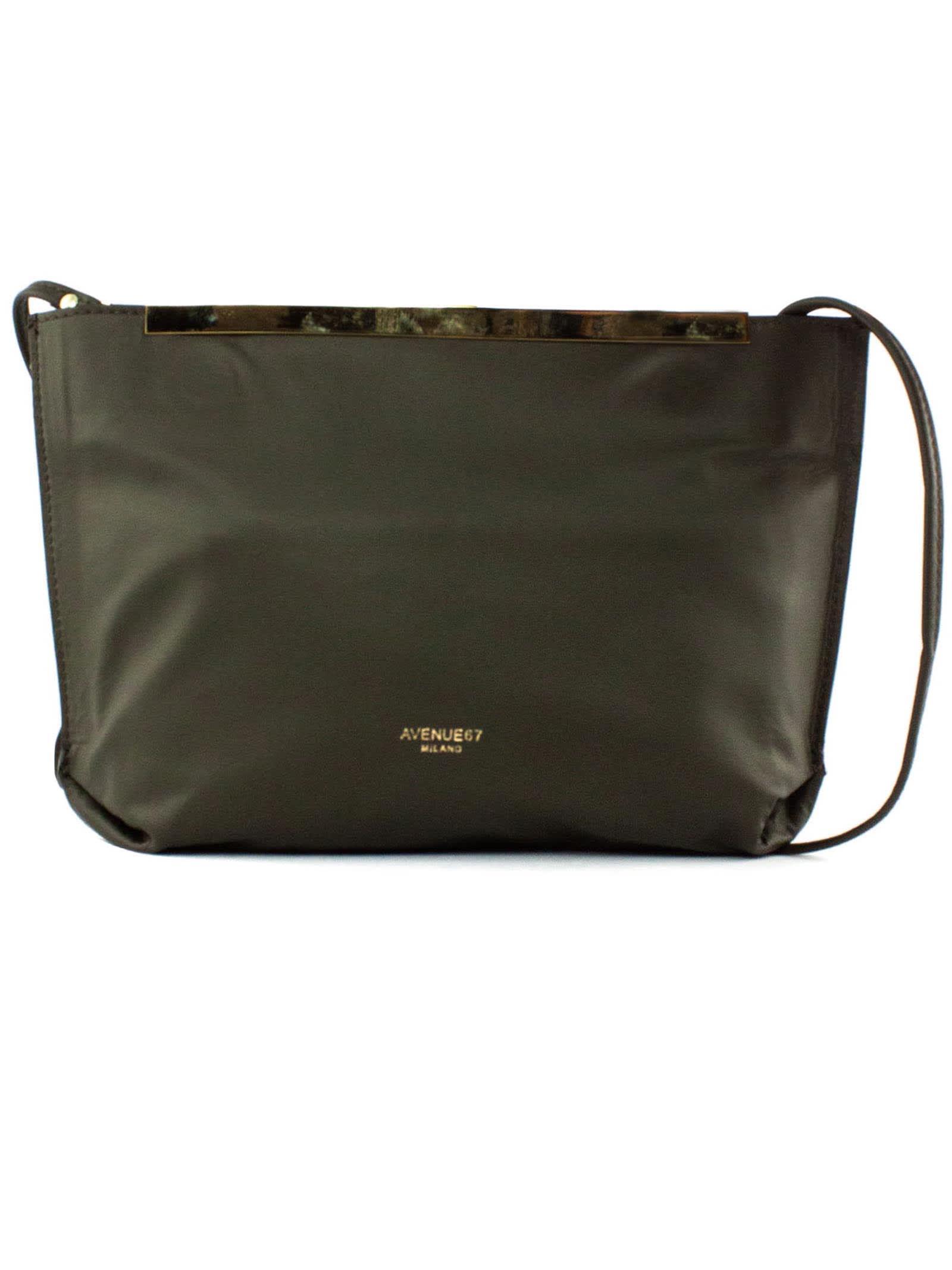 Guia Clutch In Green Soft Leather