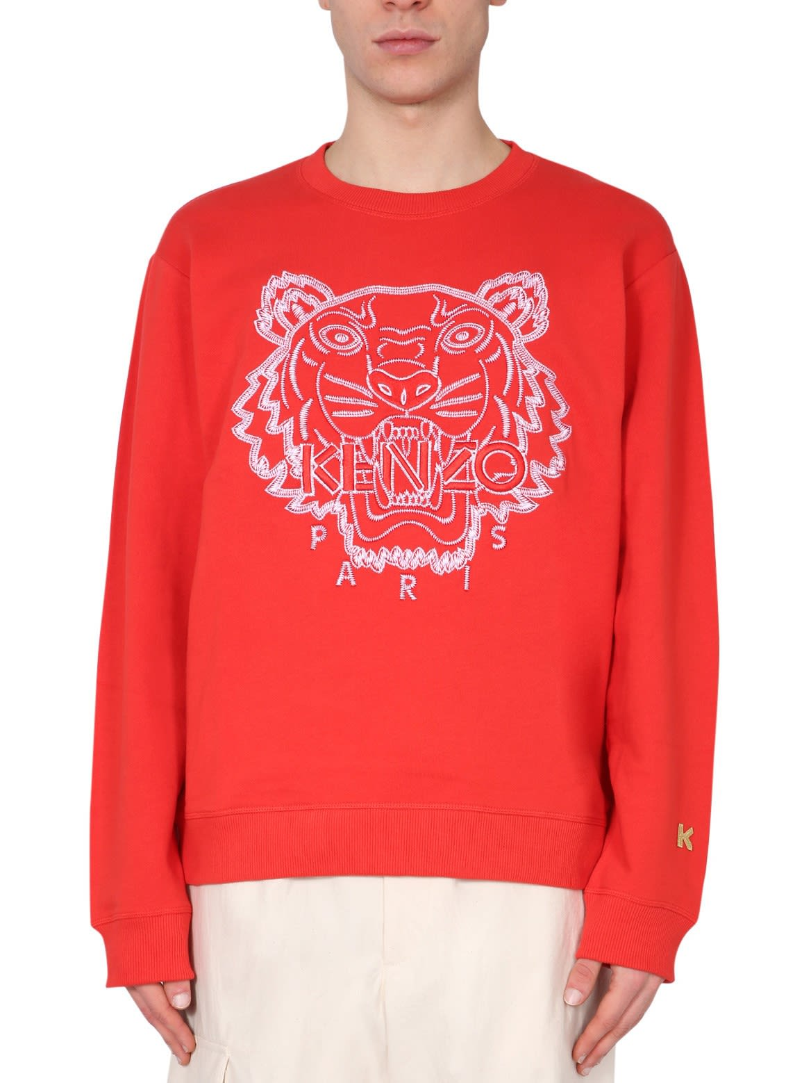 Kenzo Cottons SWEATSHIRT WITH EMBROIDERED TIGER
