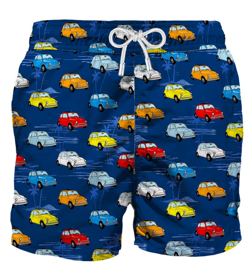 Multicolor Cars Swim Shorts