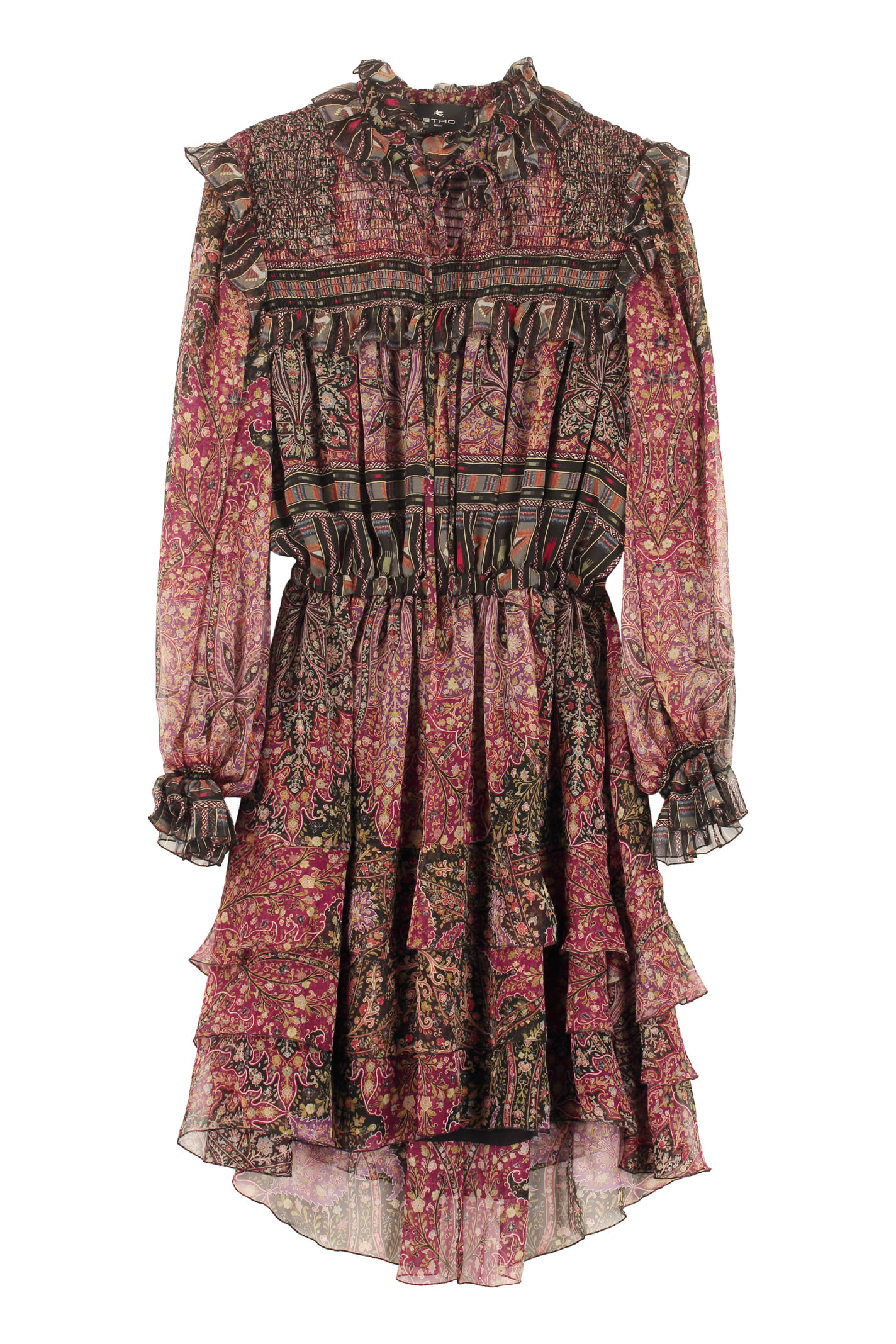 Buy Etro Printed Silk Mini Dress online, shop Etro with free shipping