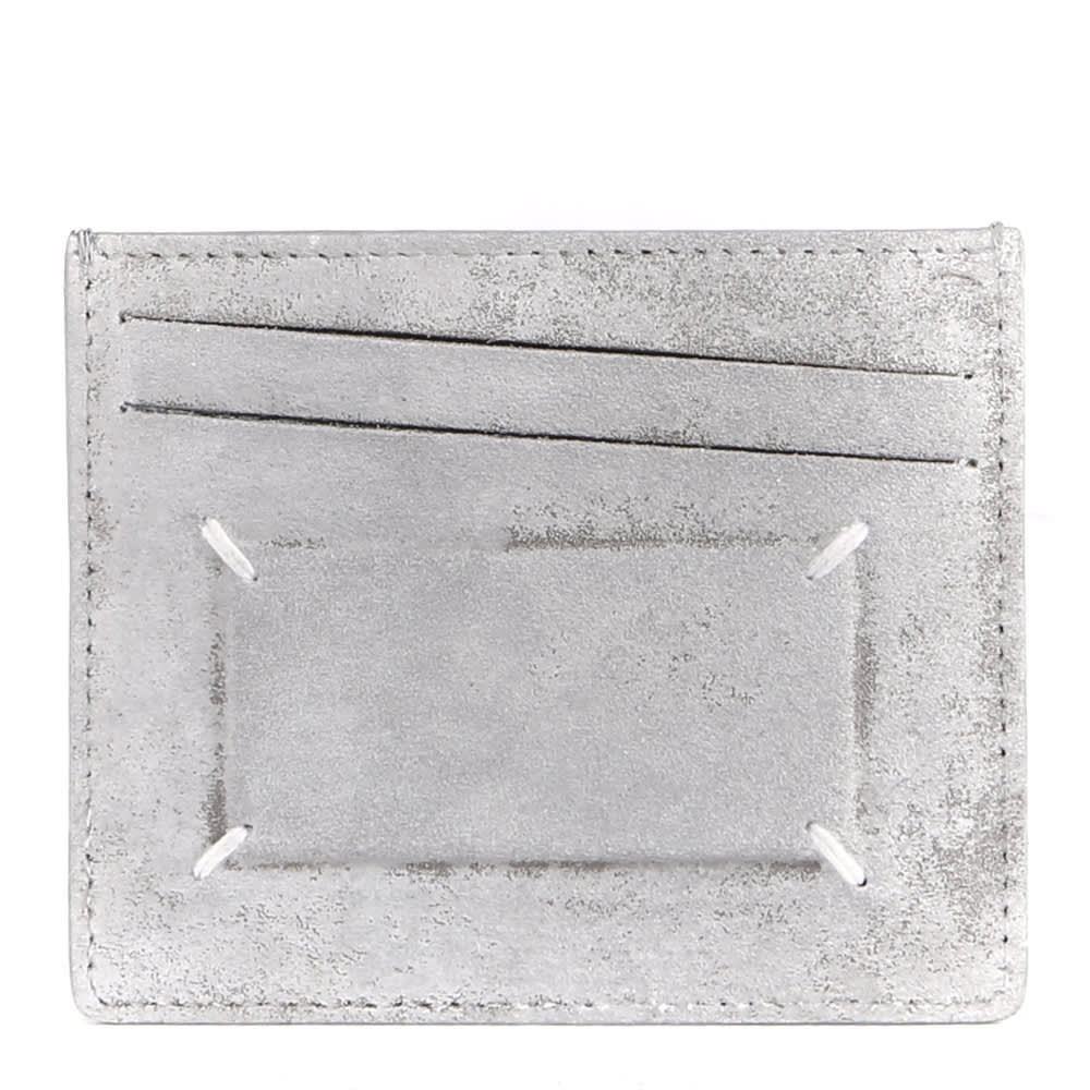 Maison Margiela CREDIT CARD HOLDER IN AGED EFFECT LEATHER WITH ICONIC STITCHING