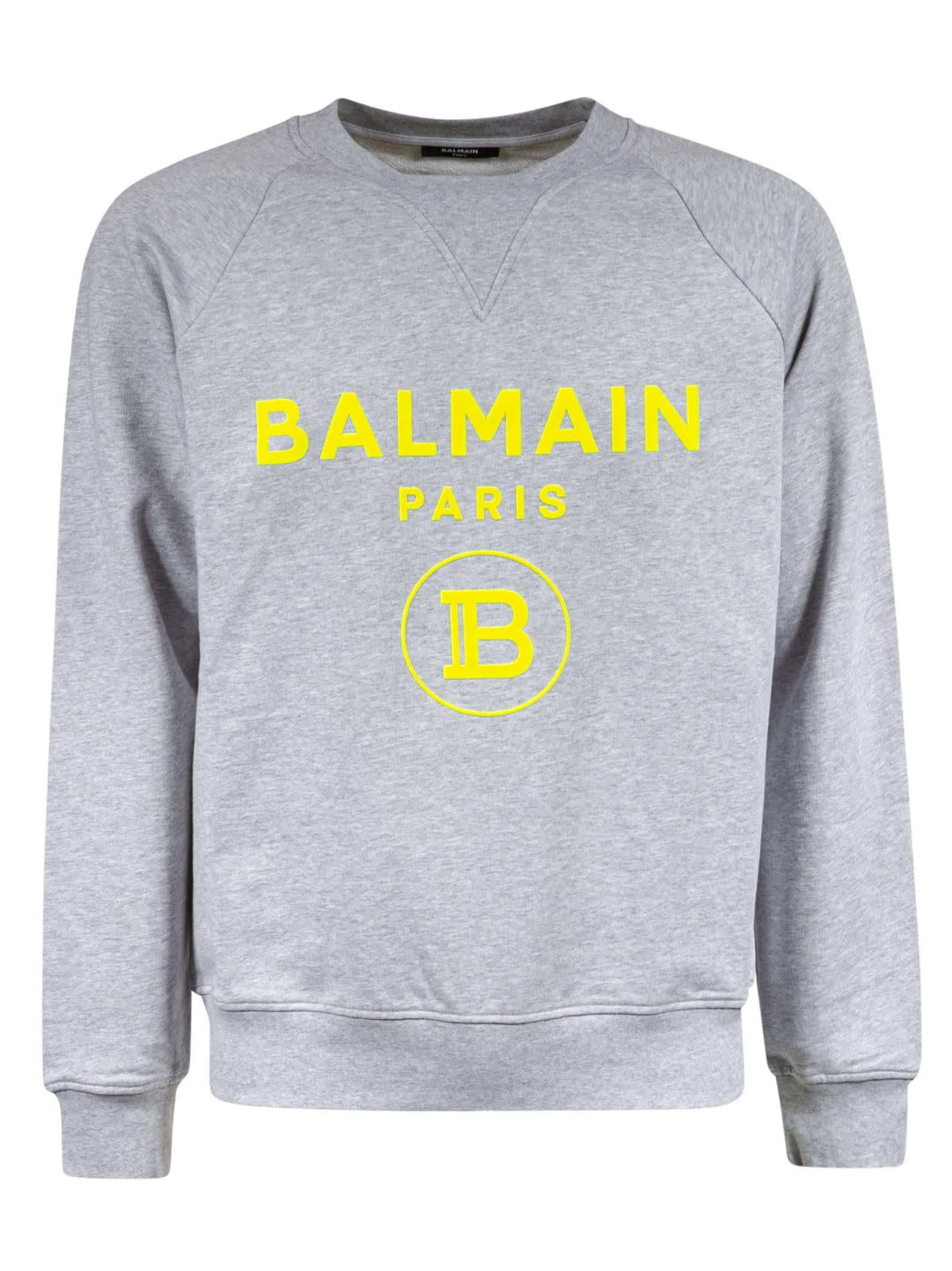 Balmain Cottons LOGO PRINT SWEATSHIRT