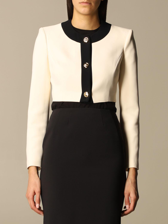 Elisabetta Franchi Jacket Elisabetta Franchi Short Jacket With Metal Buttons
