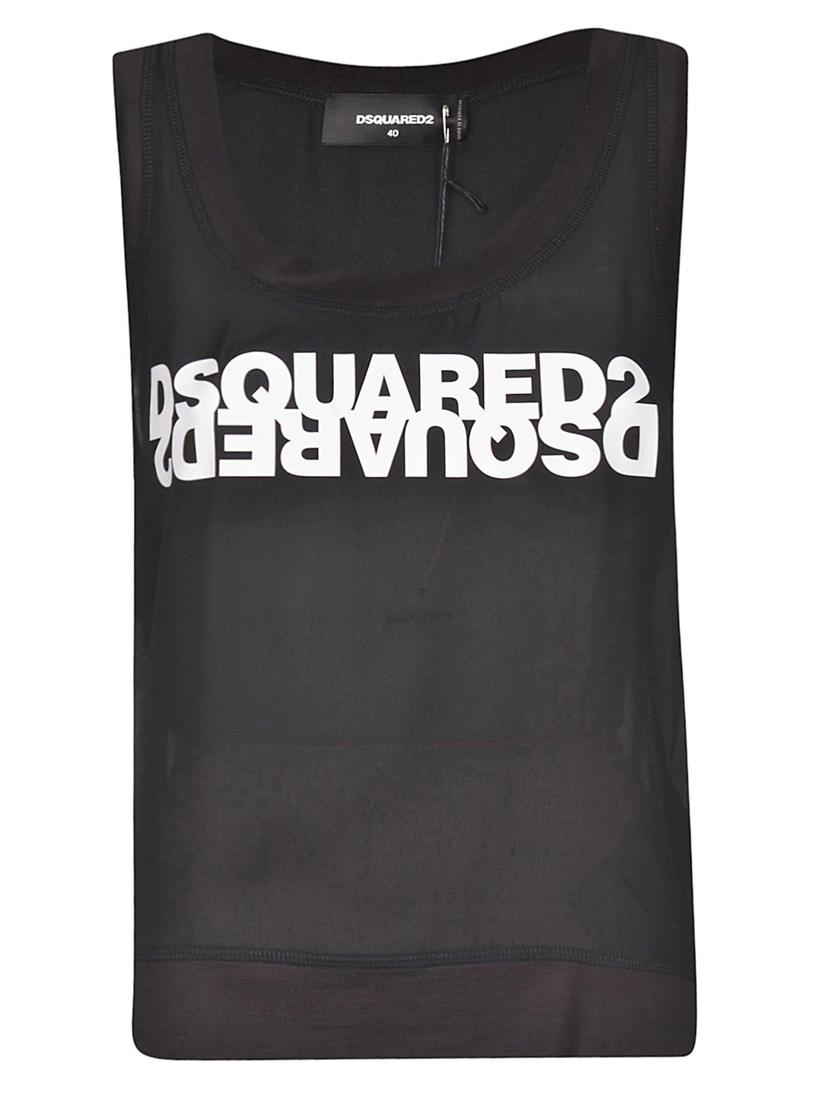 Dsquared2 Logo Printed Tank Top
