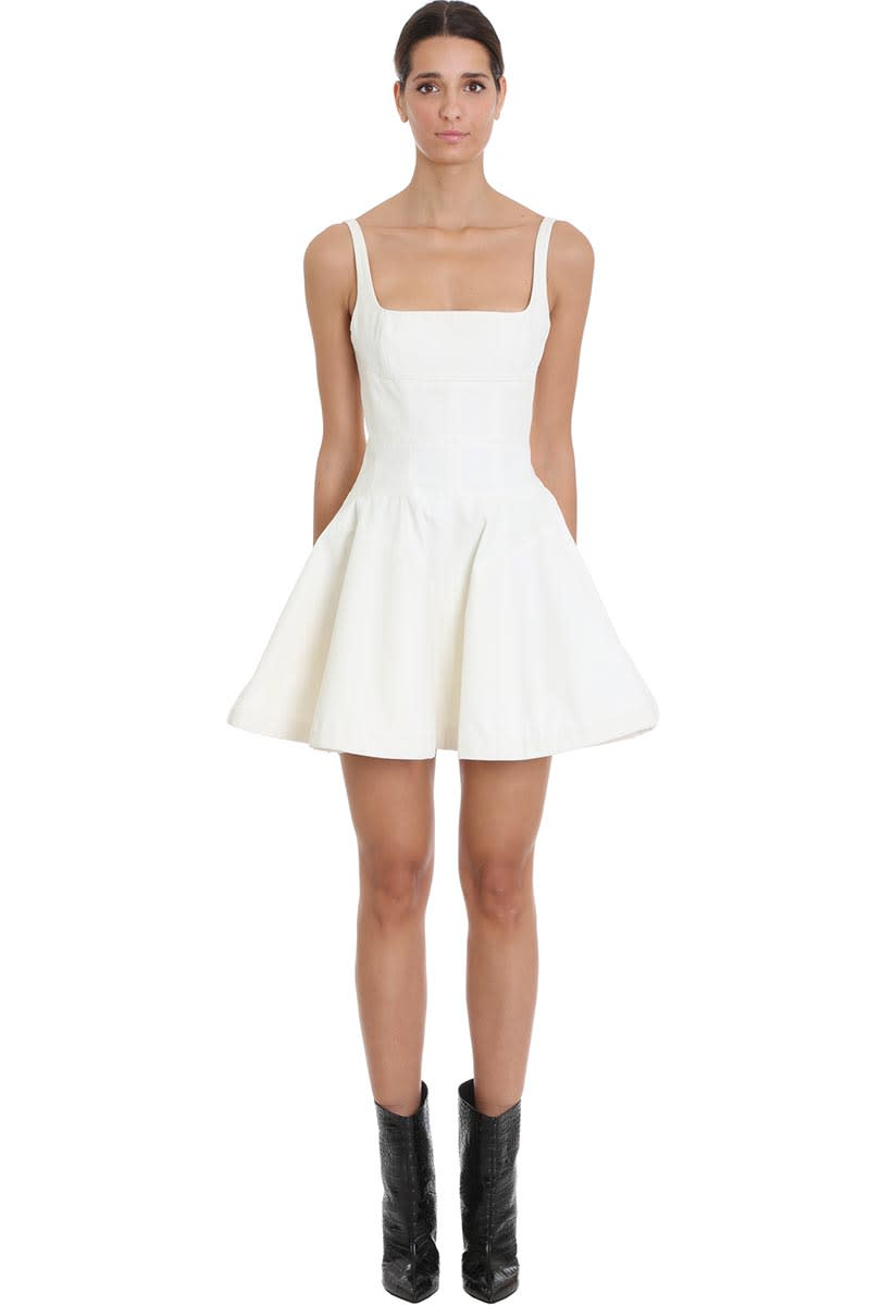 Buy Giovanni Bedin Dress In White Cotton online, shop Giovanni Bedin with free shipping