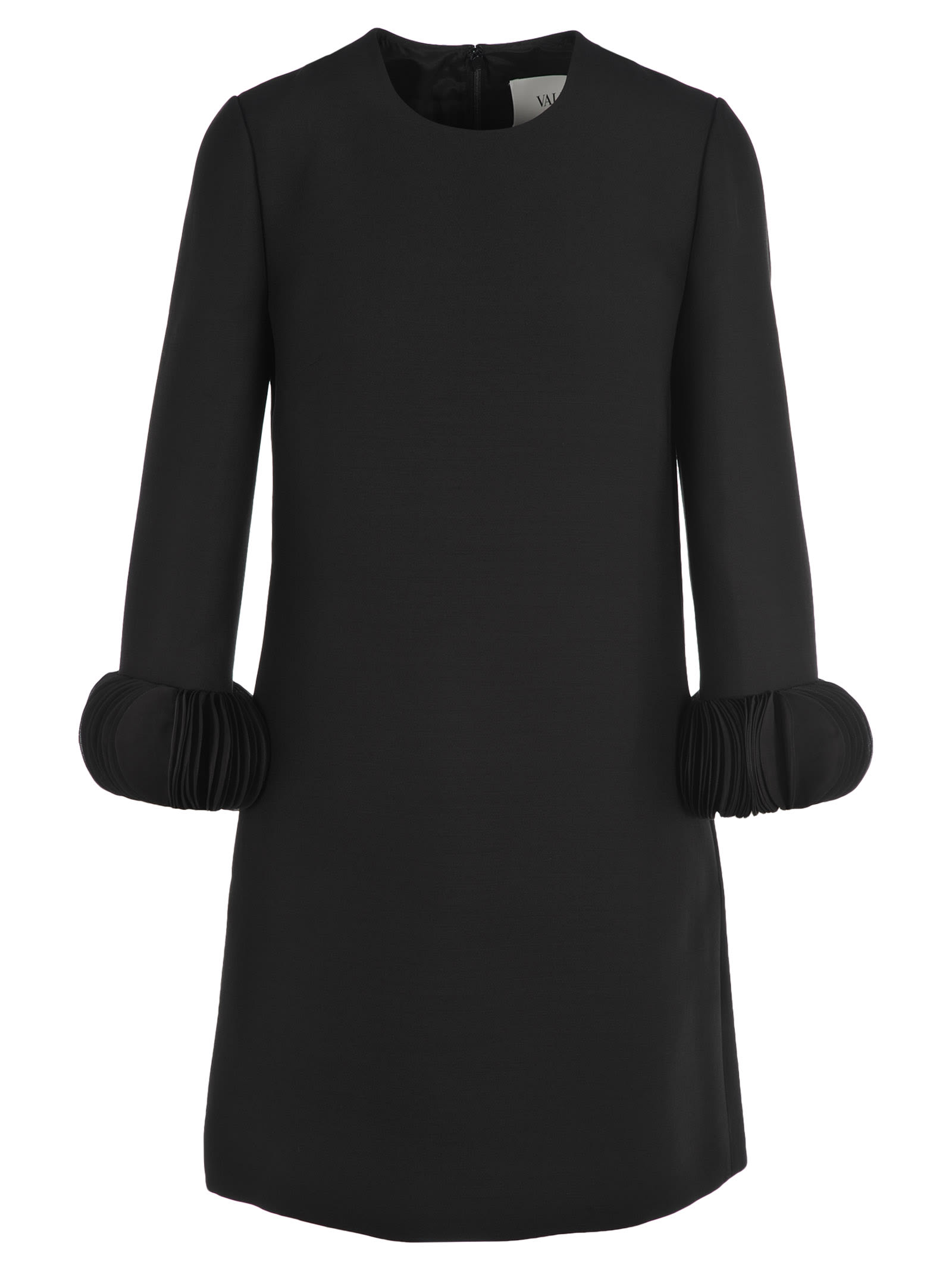 Buy Valentino Ornamental Sleeve Dress online, shop Valentino with free shipping