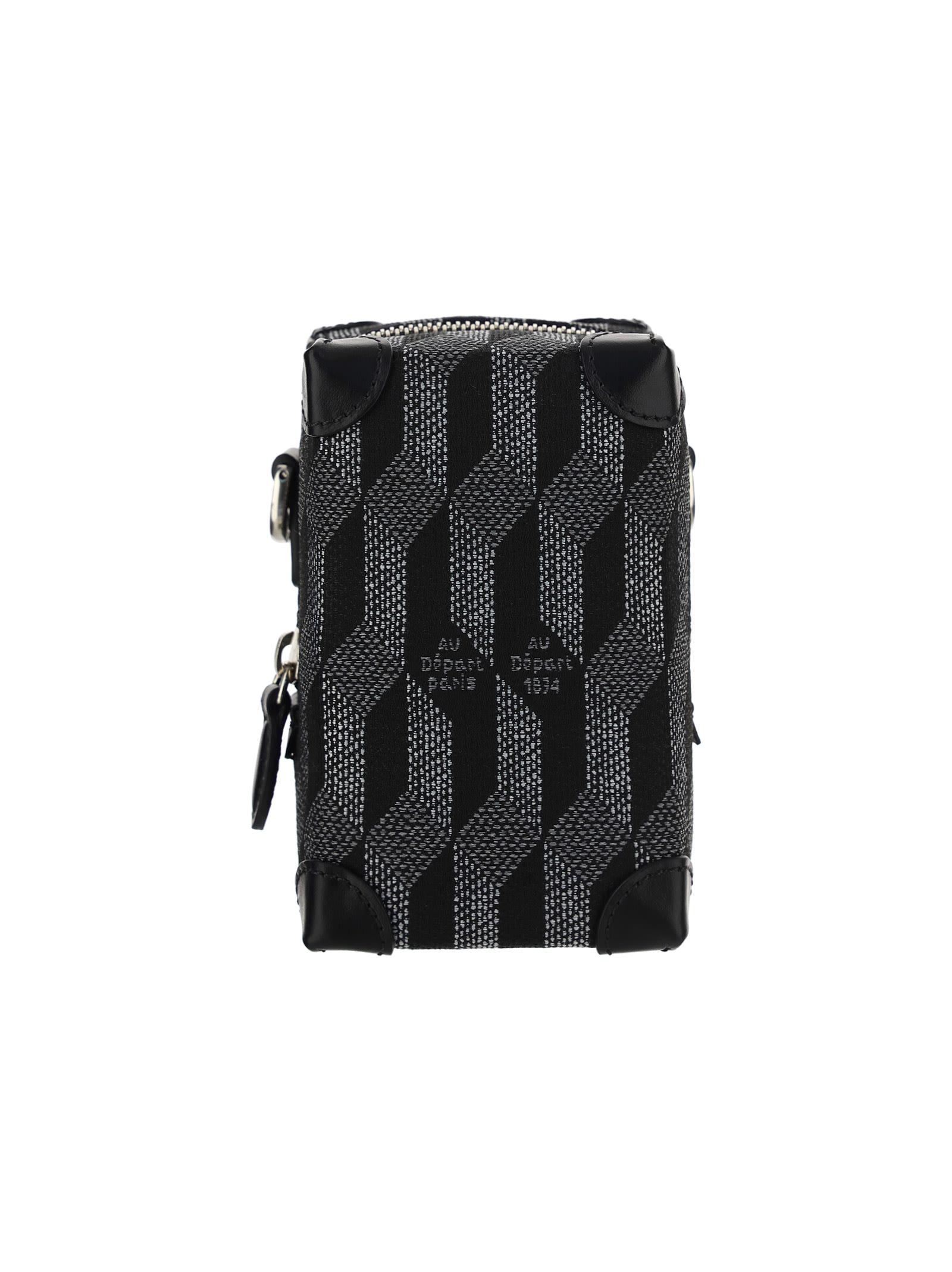 Au Depart Le Micro Soft Bag In Noir Monogramme