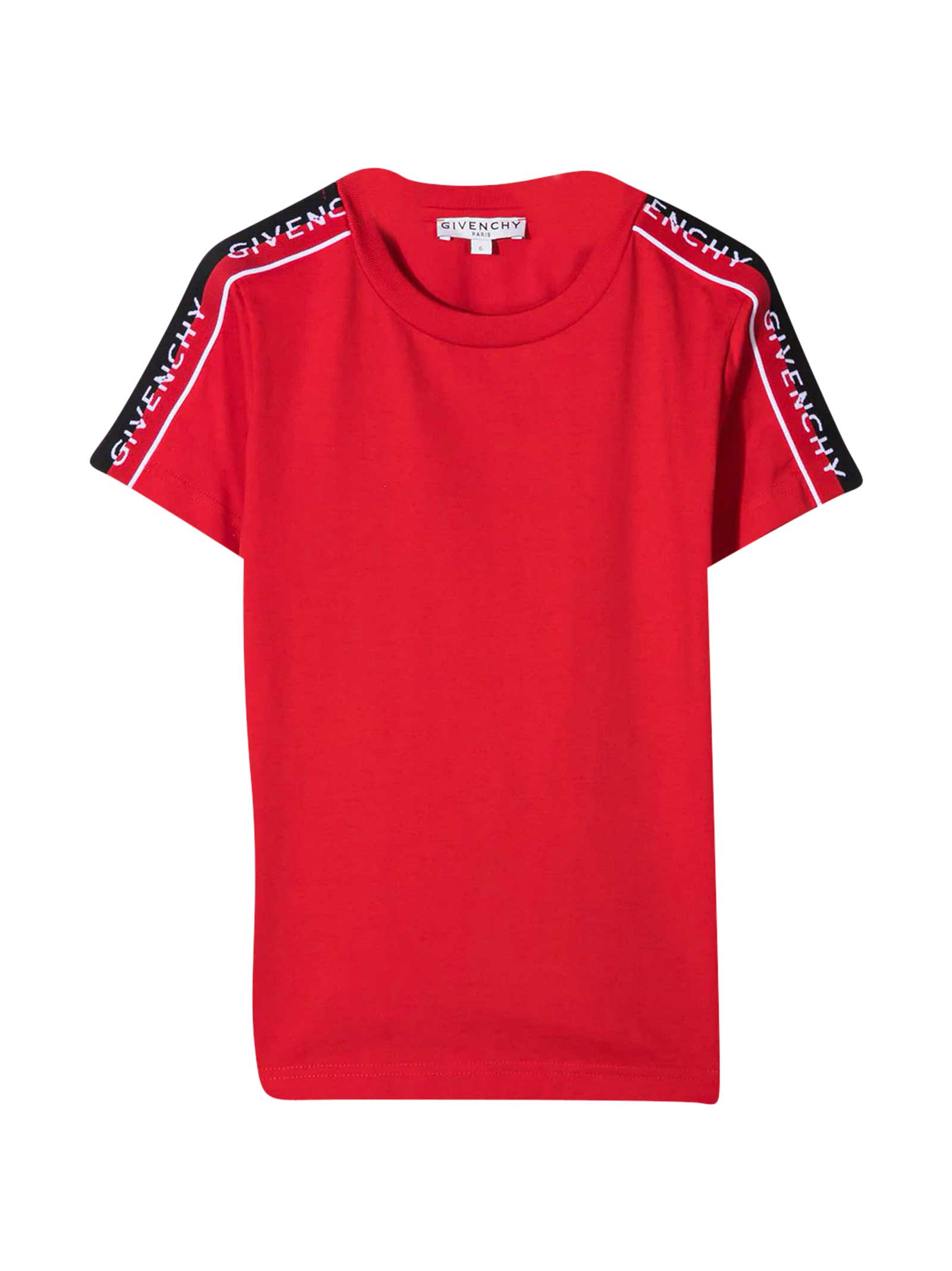 Givenchy Kids Cotton T-shirt In Rosso