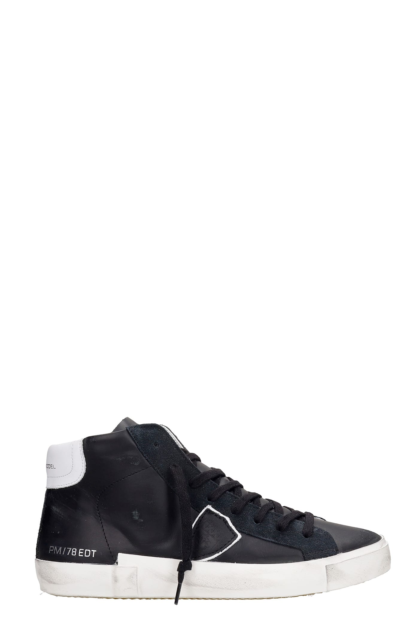 Philippe Model Sneakers PRSX SNEAKERS IN BLACK LEATHER