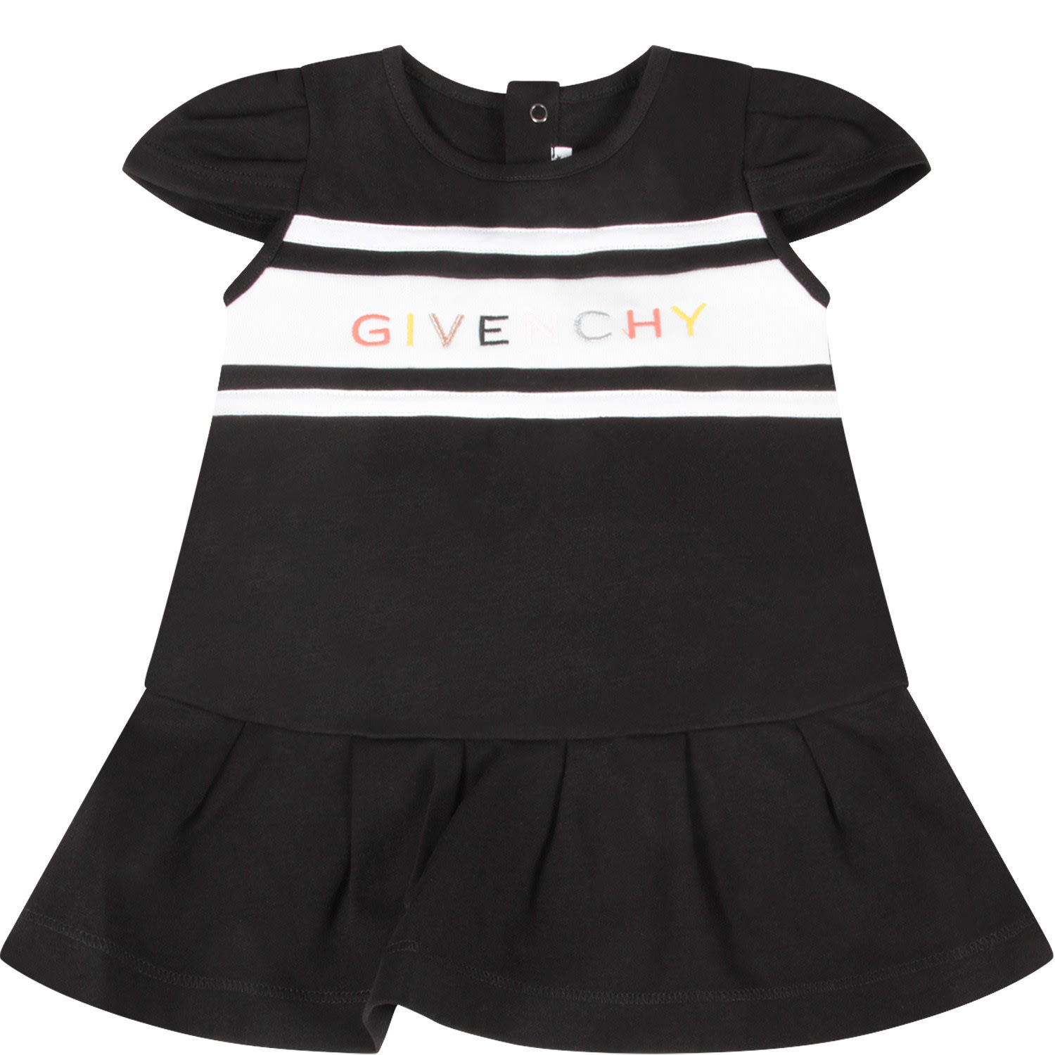 Buy Givenchy Black Dress With Logo For Baby online, shop Givenchy with free shipping