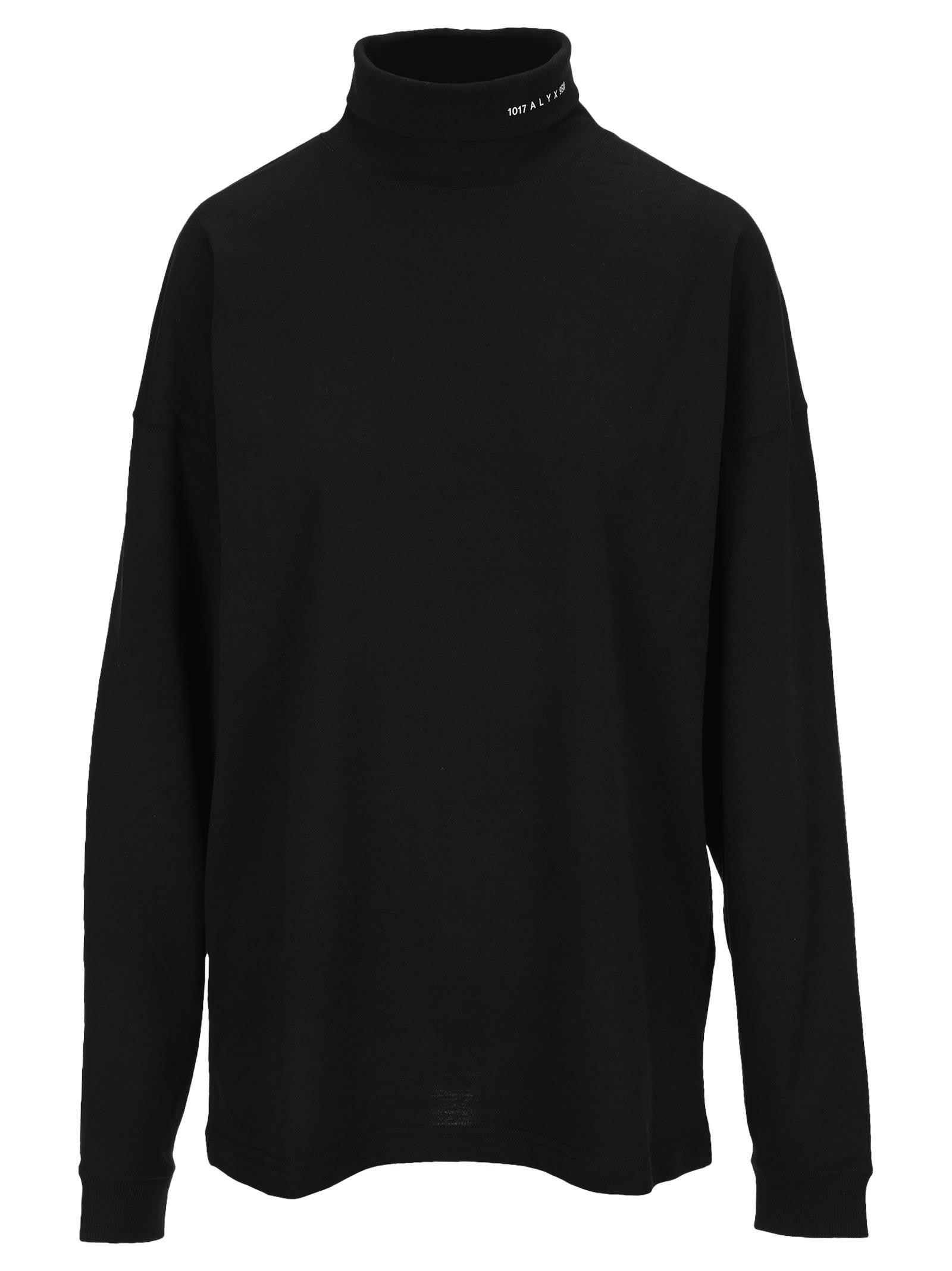 Alyx Logo-print Roll Neck Sweatshirt In Black