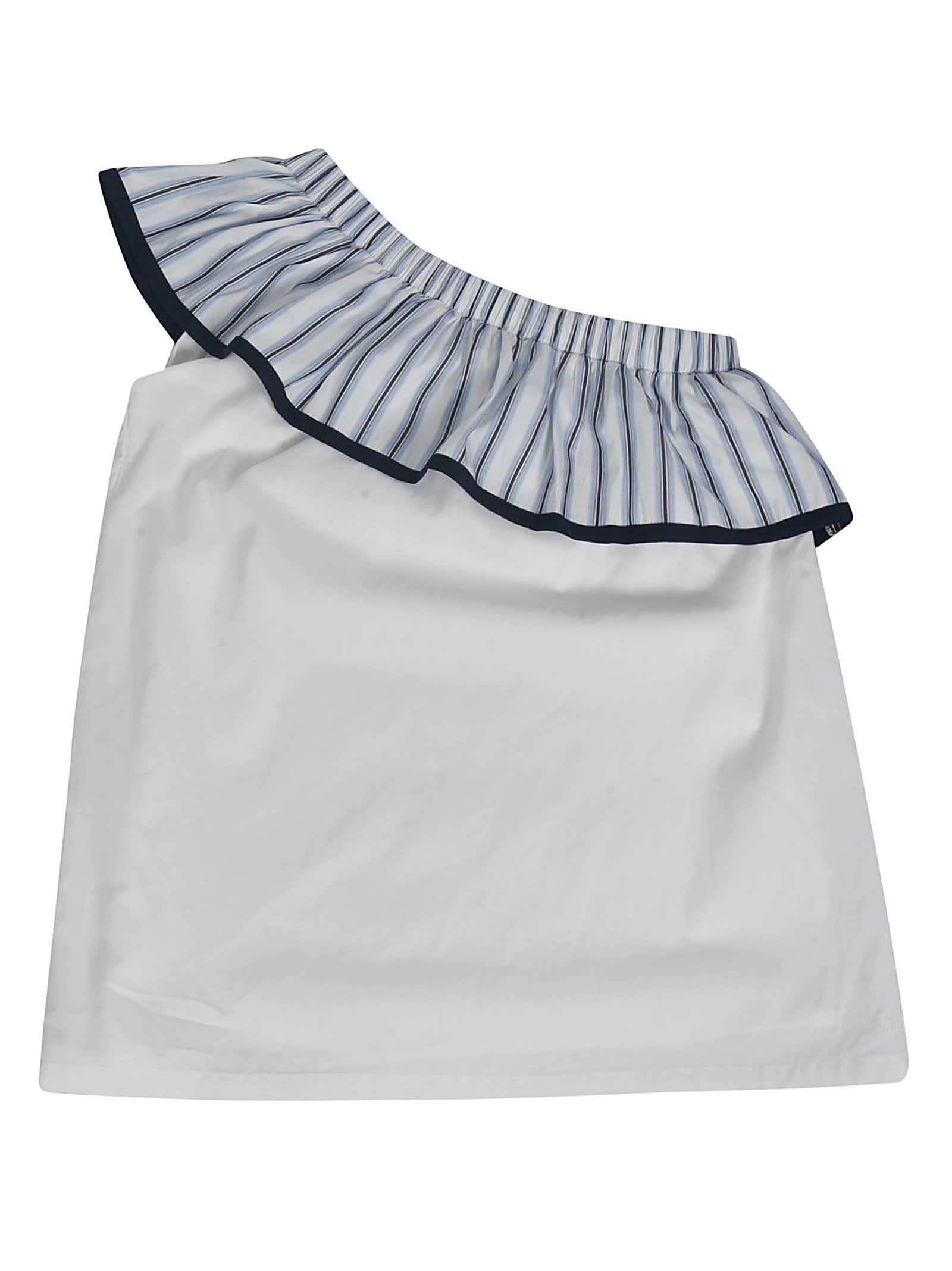 Buy Chloé Asymmetric Ruffled Dress online, shop Chloé with free shipping