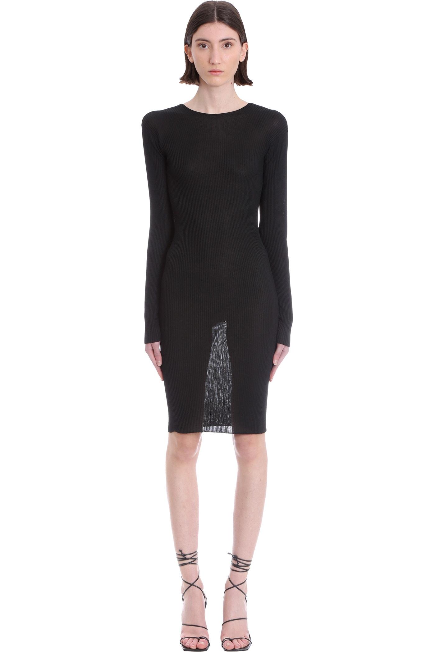 Buy Laneus Dress In Black Viscose online, shop Laneus with free shipping