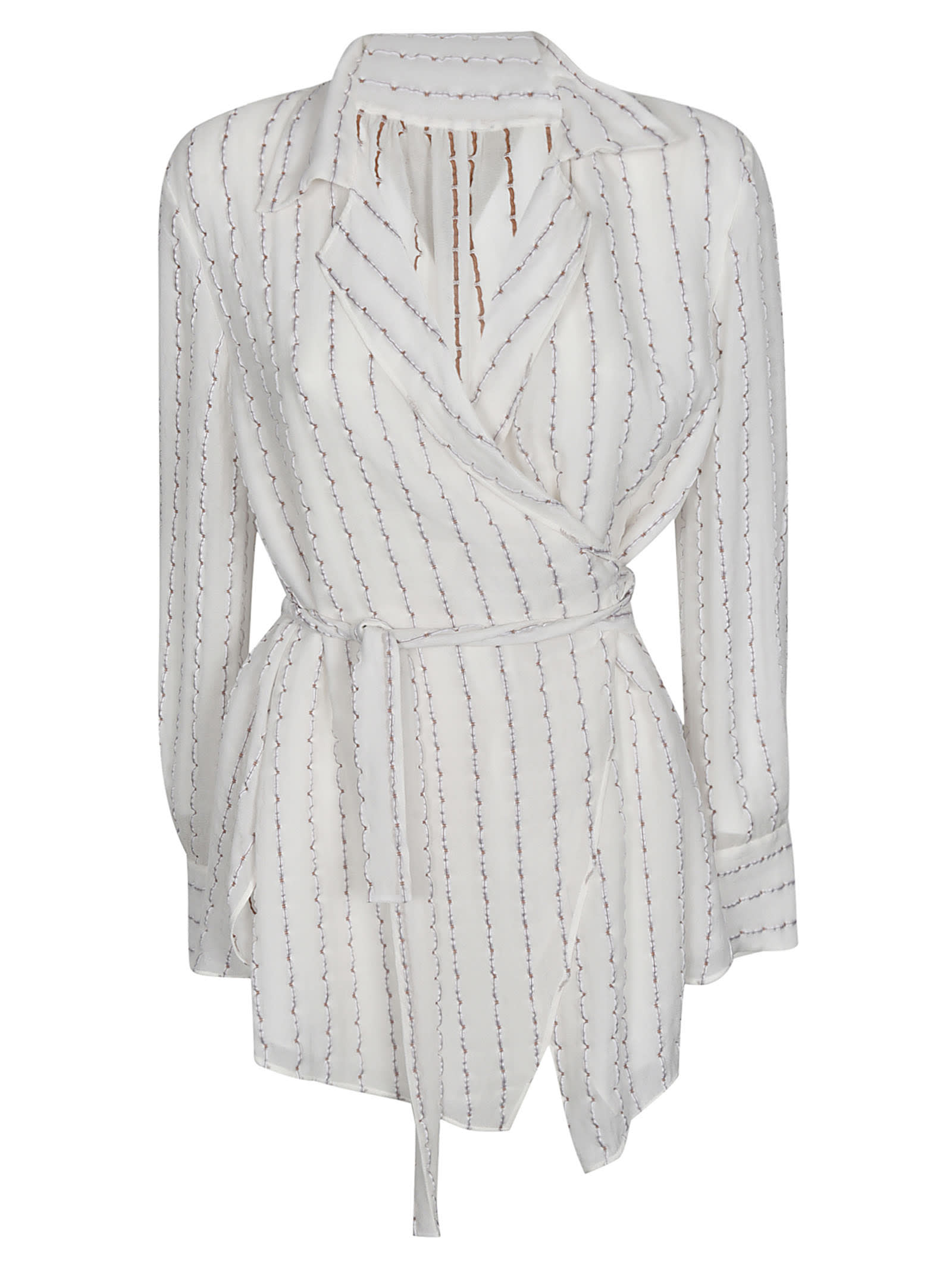Buy Chloé Stripped Wrapped Dress online, shop Chloé with free shipping