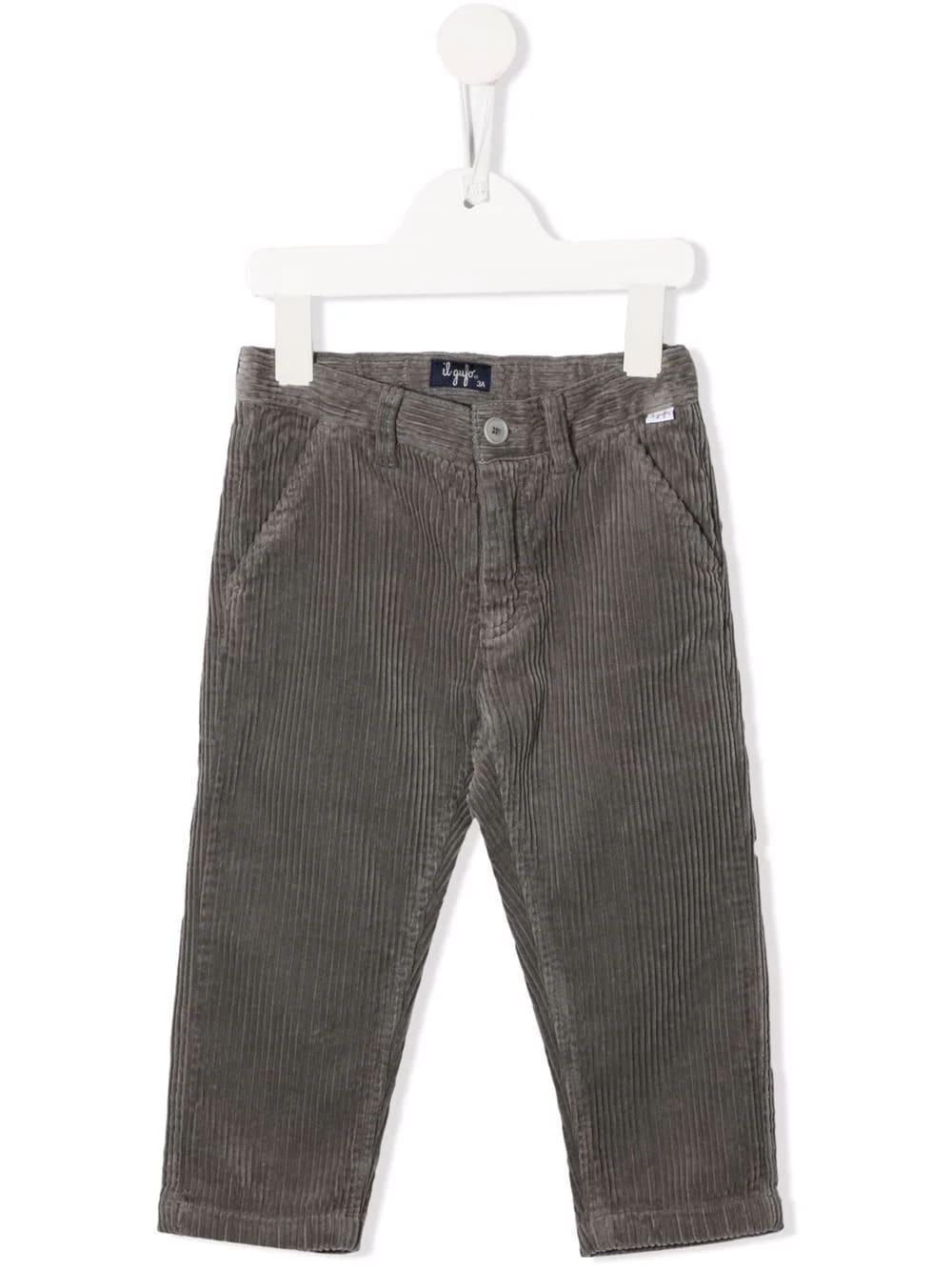 Dark Grey Corduroy Baby Trousers