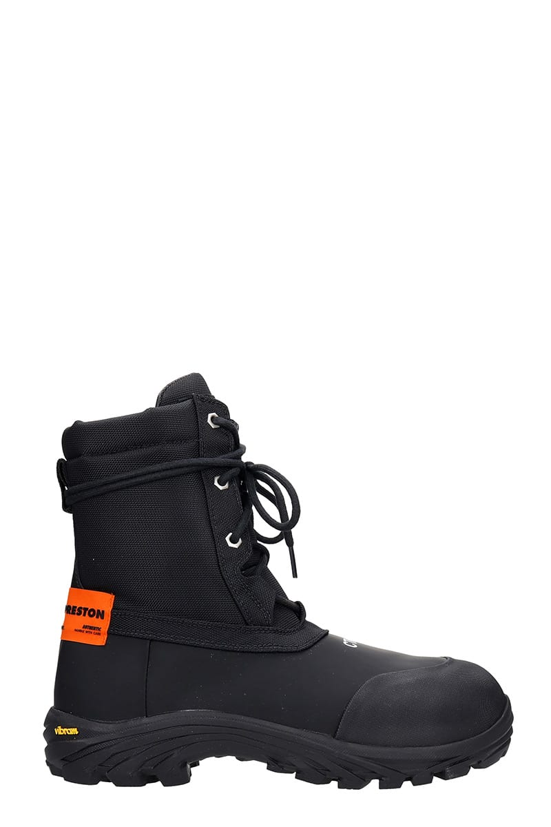 HERON PRESTON Security Boot Combat Boots In Black Tech/synthetic