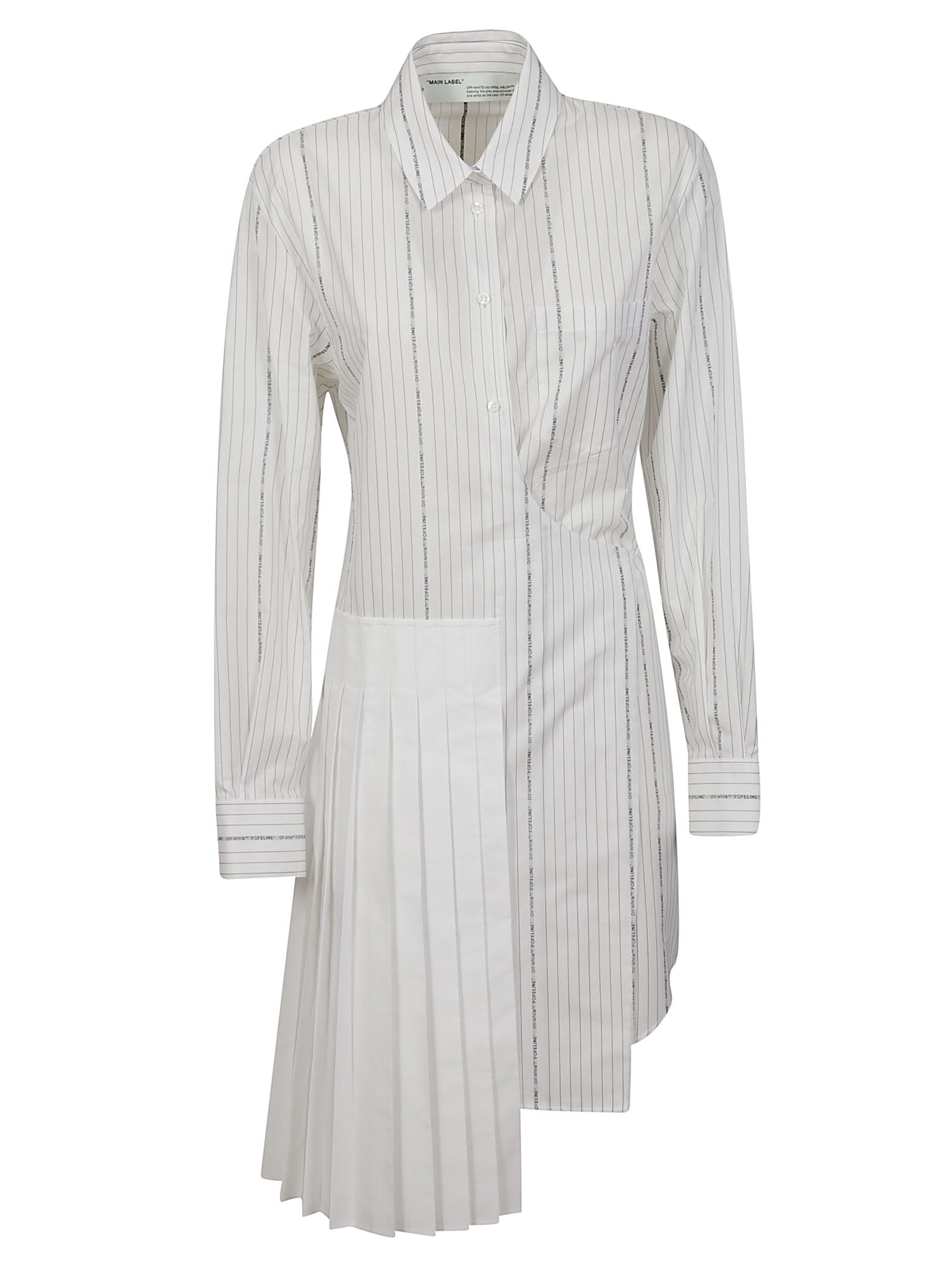 Buy Off-White Popeline Wrap Panel Dress online, shop Off-White with free shipping