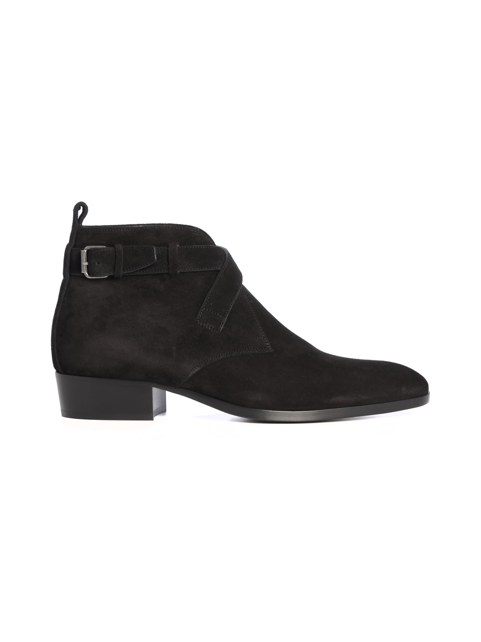 Saint Laurent Wyatt Suede Bootie