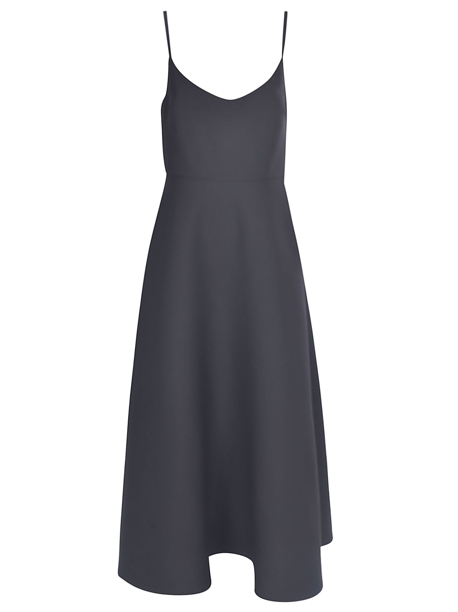 Buy Valentino Crewneck Crepe Couture Dress online, shop Valentino with free shipping