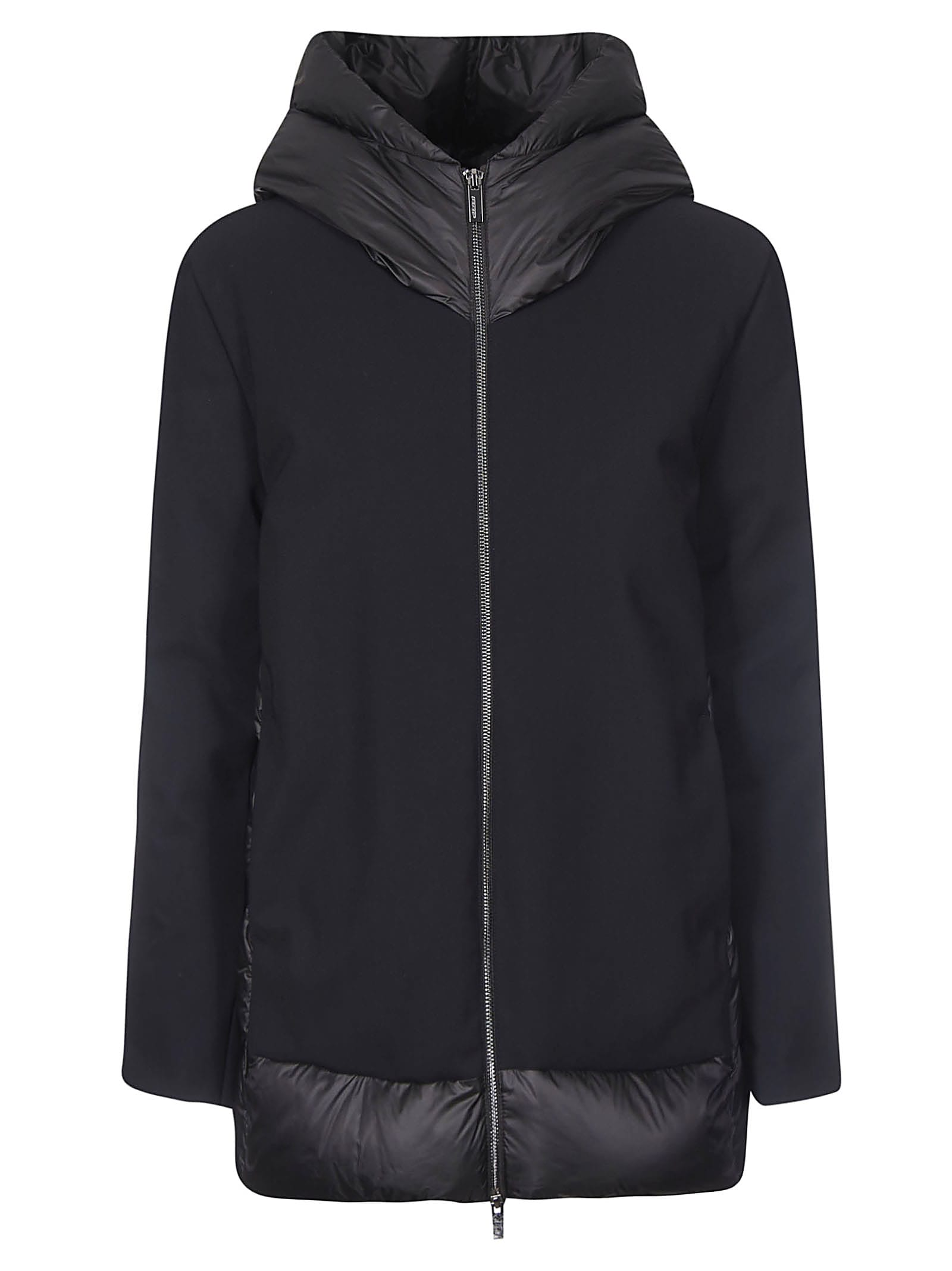 RRD - Roberto Ricci Design Zipped Large Hood Back Padded Detail Parka