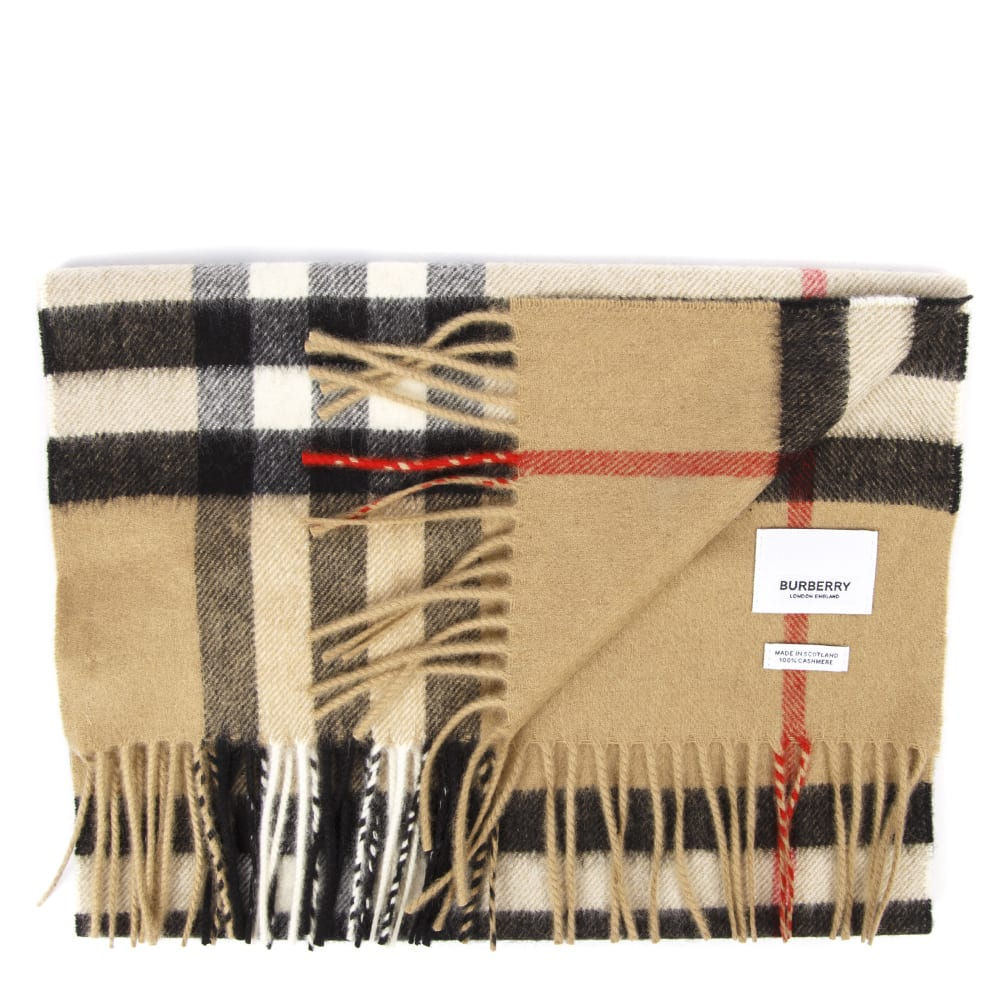 Best Authentic Burberry Classic Check Cashmere Scarf