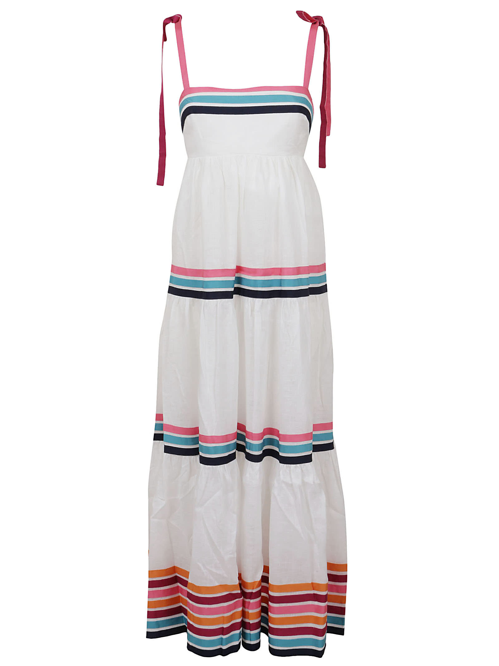 Buy Lulu Ribbon Tiered Dress online, shop Zimmermann with free shipping