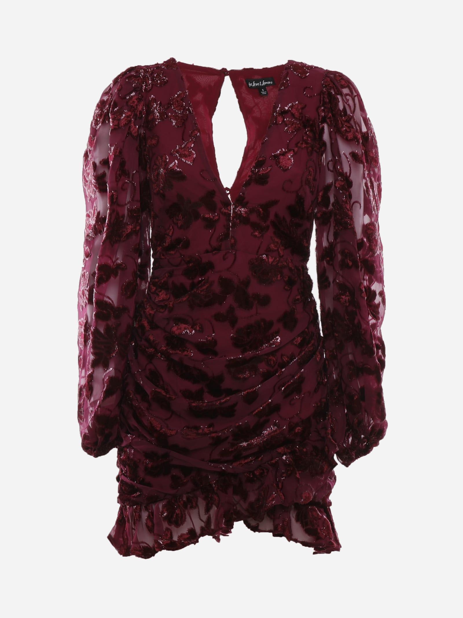 Penelope Mini Dress In Metallic Chiffon