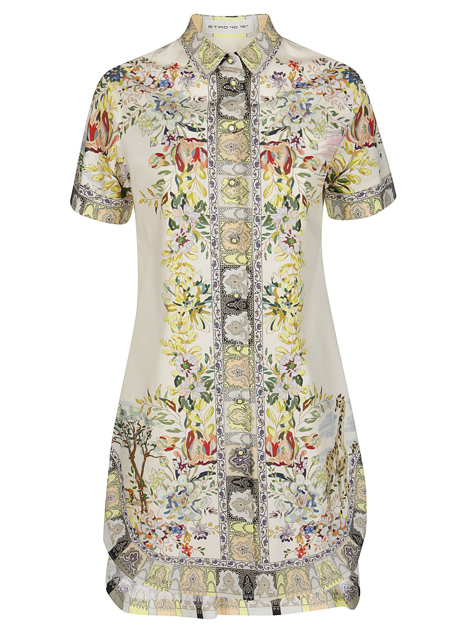 Buy Etro Floral Print Dress online, shop Etro with free shipping