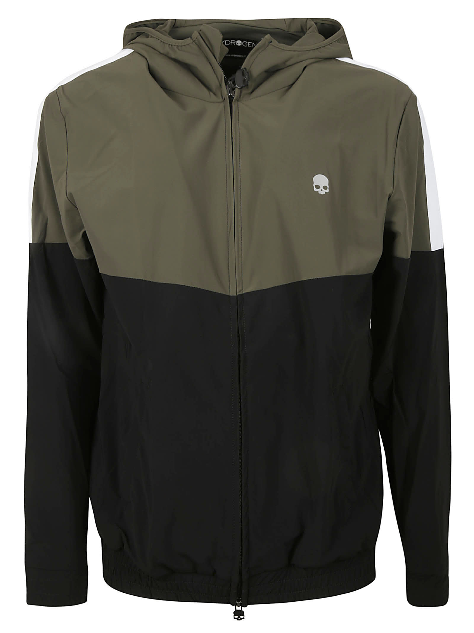 Hydrogen Trench Fz Hoodie In Military Green/black