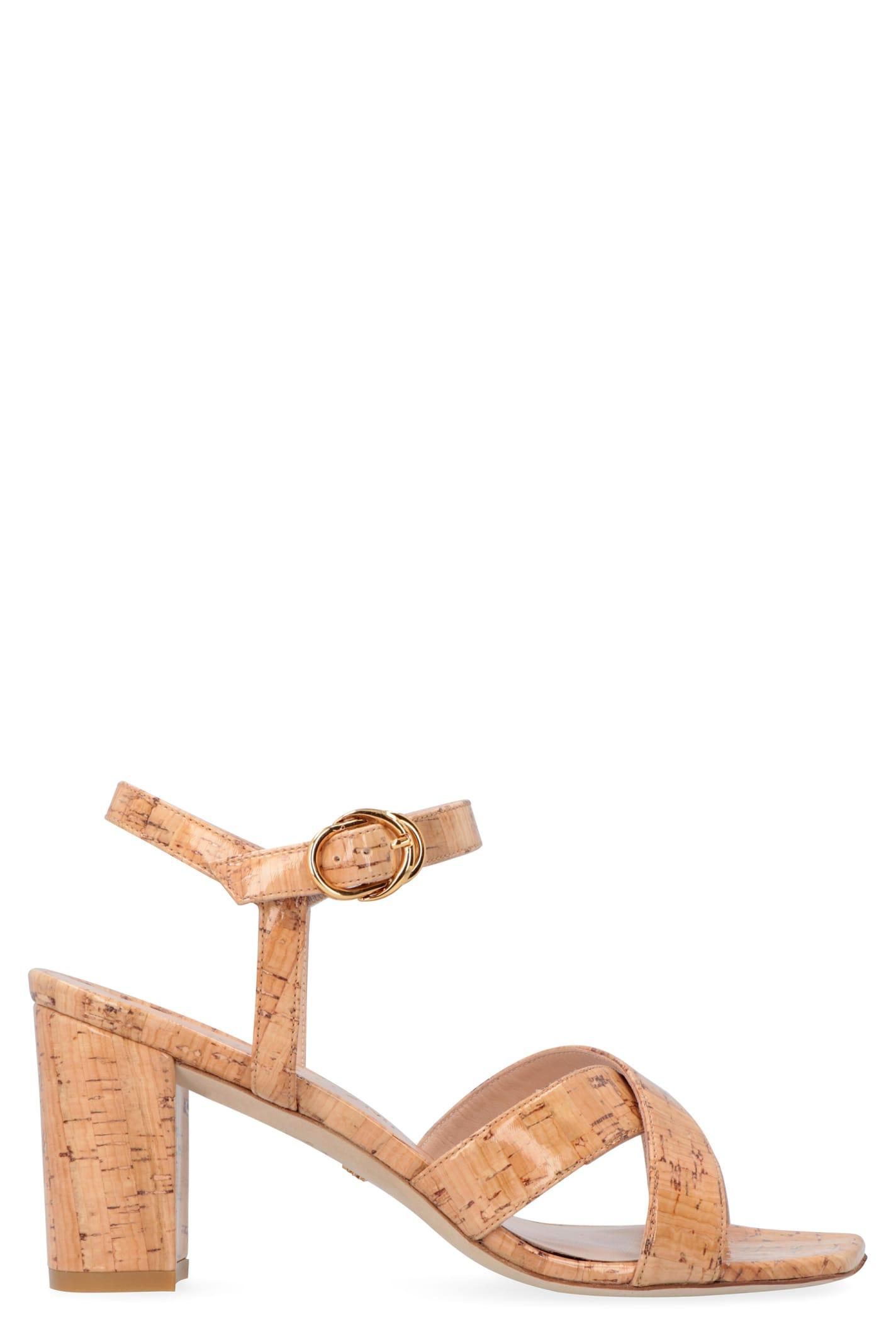 Buy Stuart Weitzman Analeigh Heeled Sandals online, shop Stuart Weitzman shoes with free shipping