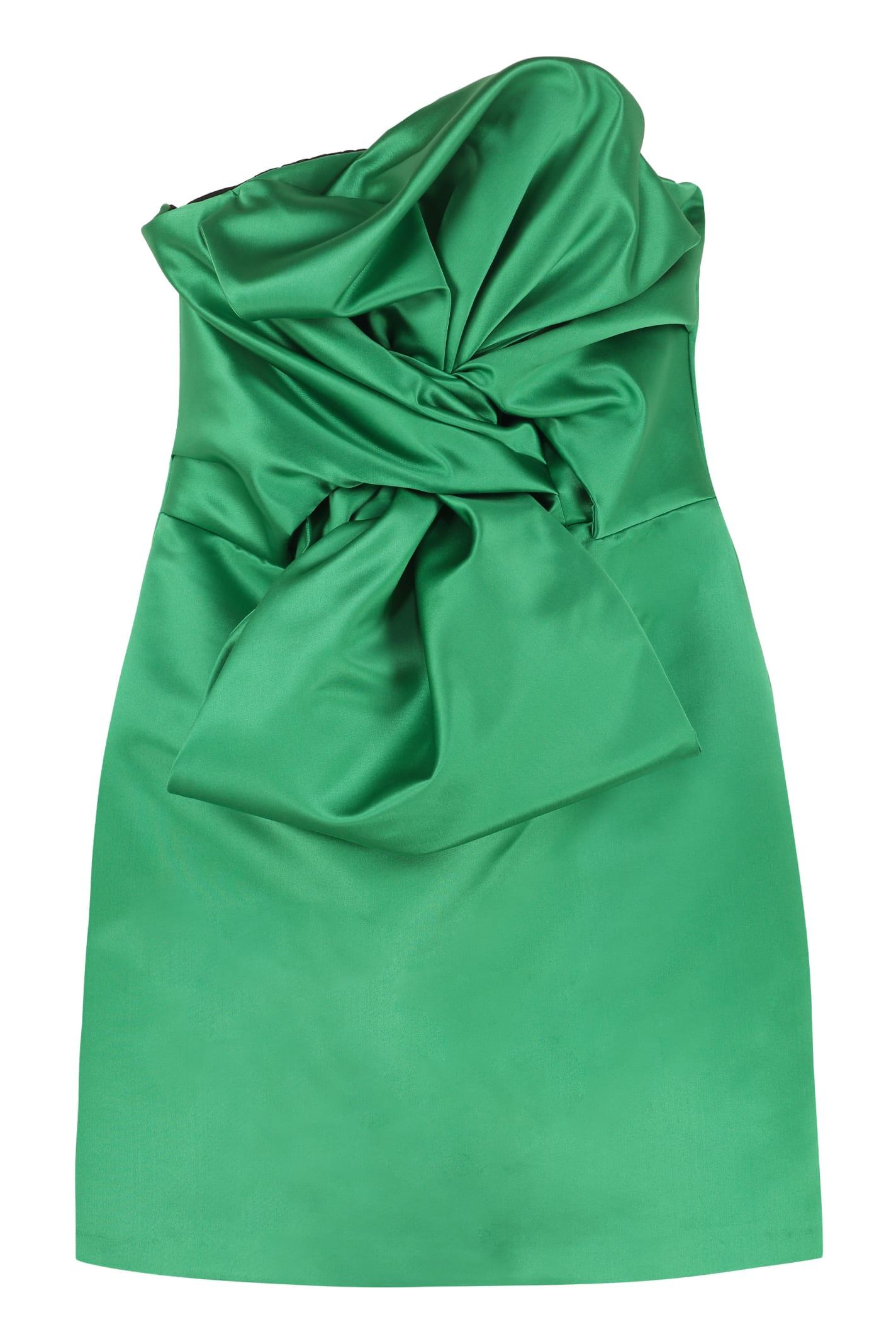 Buy Giuseppe di Morabito Satin Bustier Dress With Maxi Bow online, shop Giuseppe di Morabito with free shipping