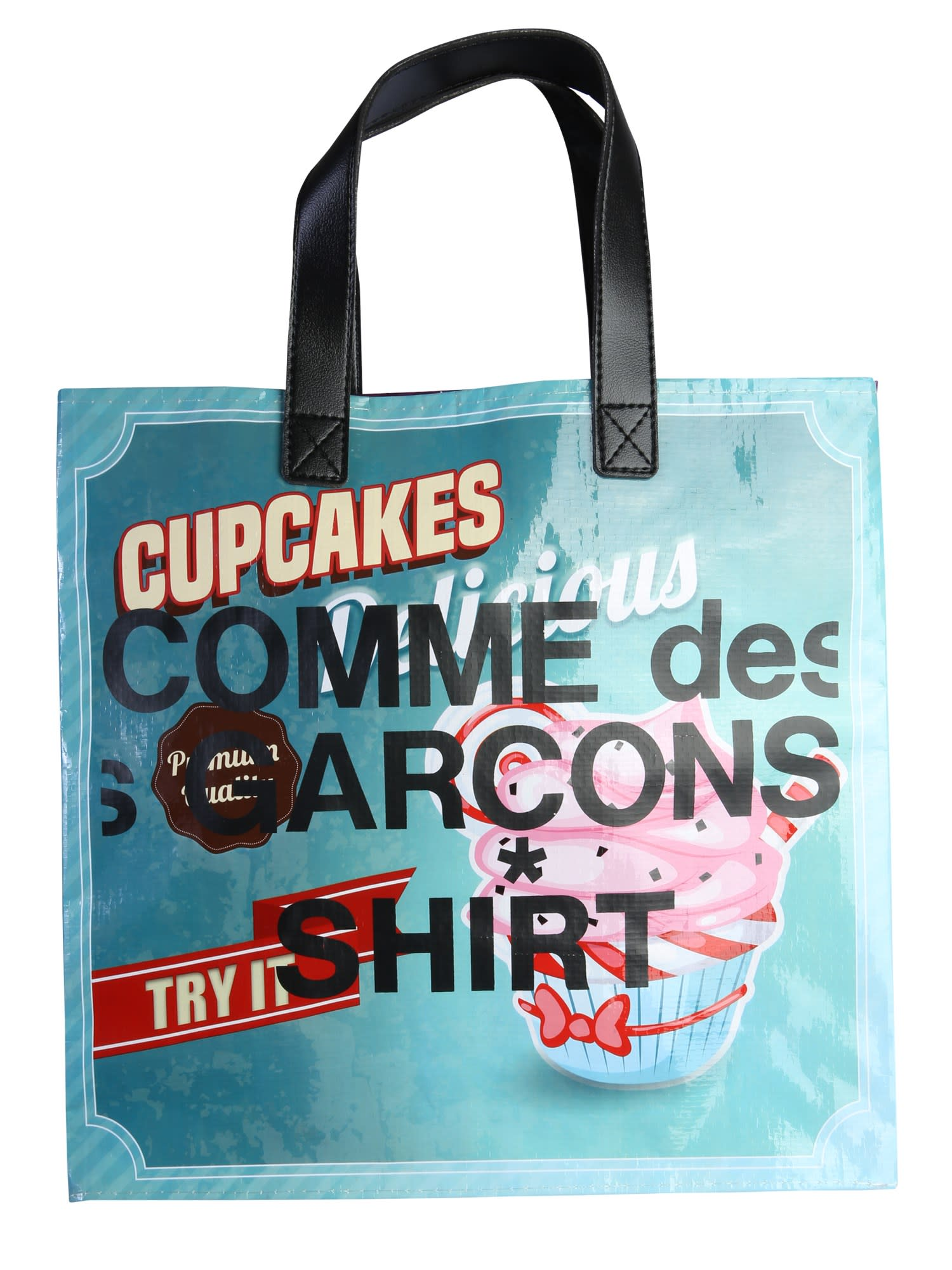 Comme Des Garçons Shirt Tote Multicolor Delicious Bag In Print B