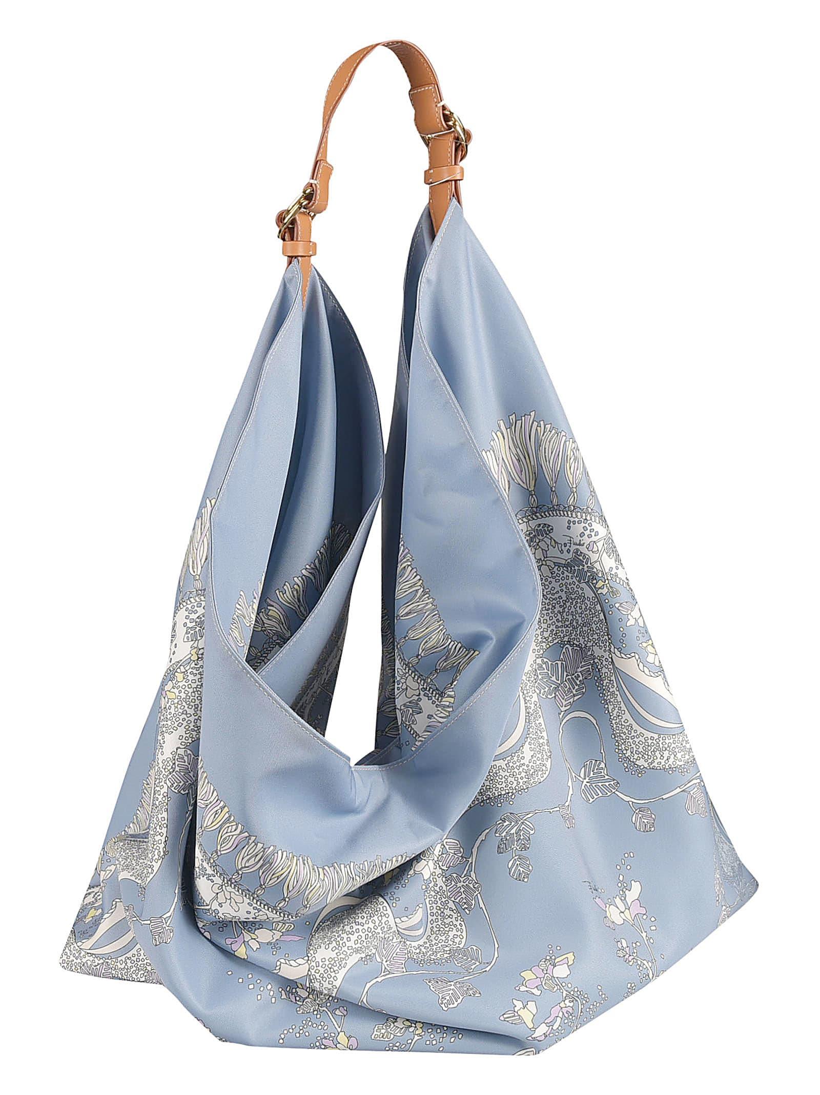 Emilio Pucci Rugiada Print Tote In Blue