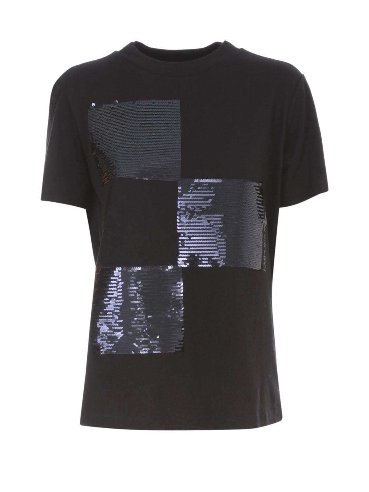 Emporio Armani T-shirt S/s W/square Paillettes