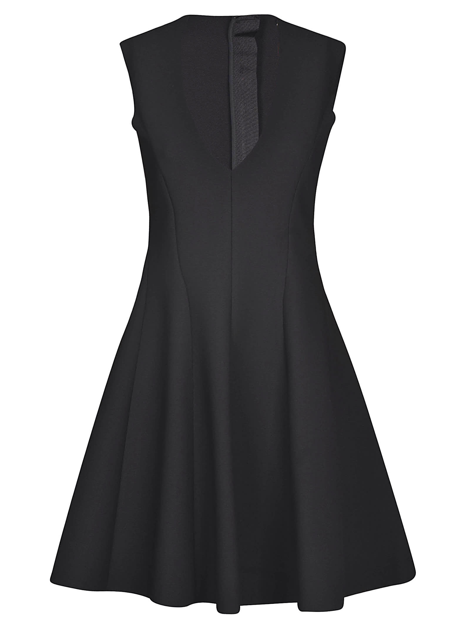 Buy MSGM Rear Zip V-neck Flared Dress online, shop MSGM with free shipping