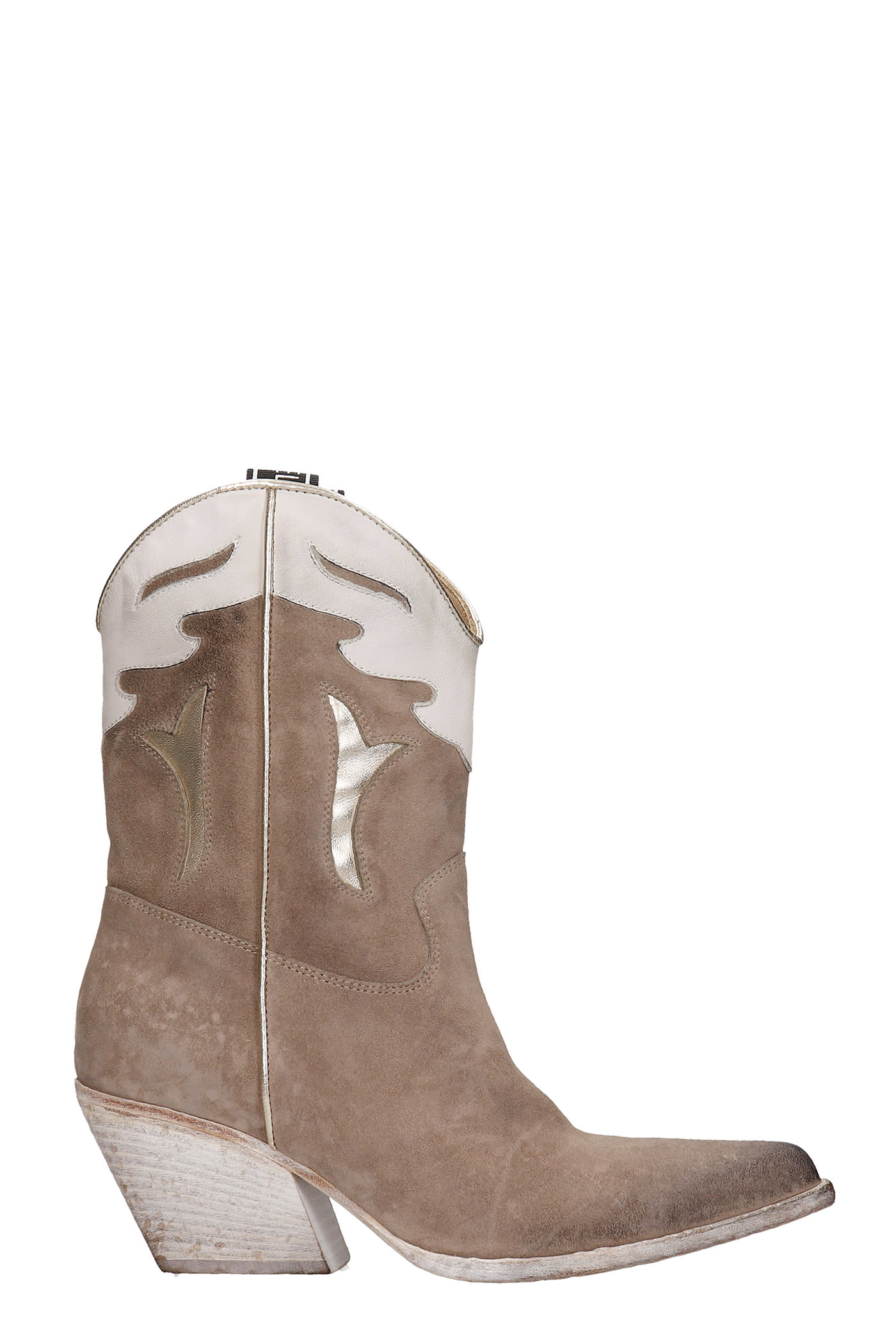 Texan Ankle Boots In Beige Suede