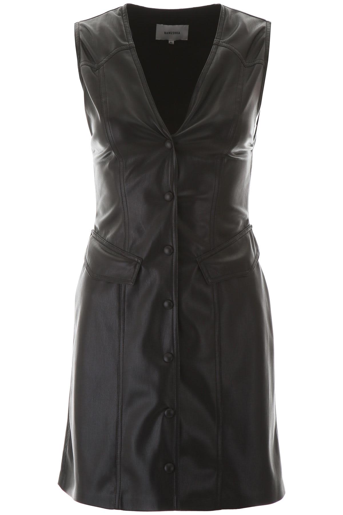 Buy Nanushka Faux Leather Mini Dress online, shop Nanushka with free shipping