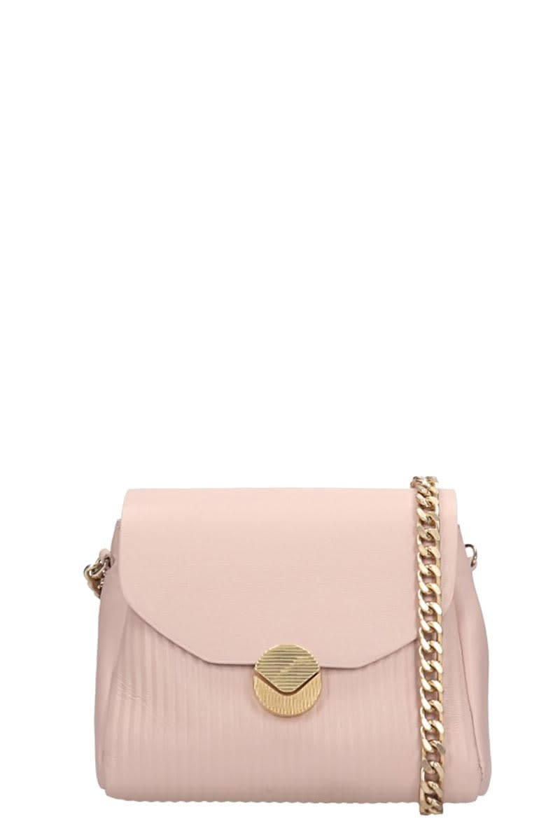 Visone Tati Shoulder Bag In Powder Leather