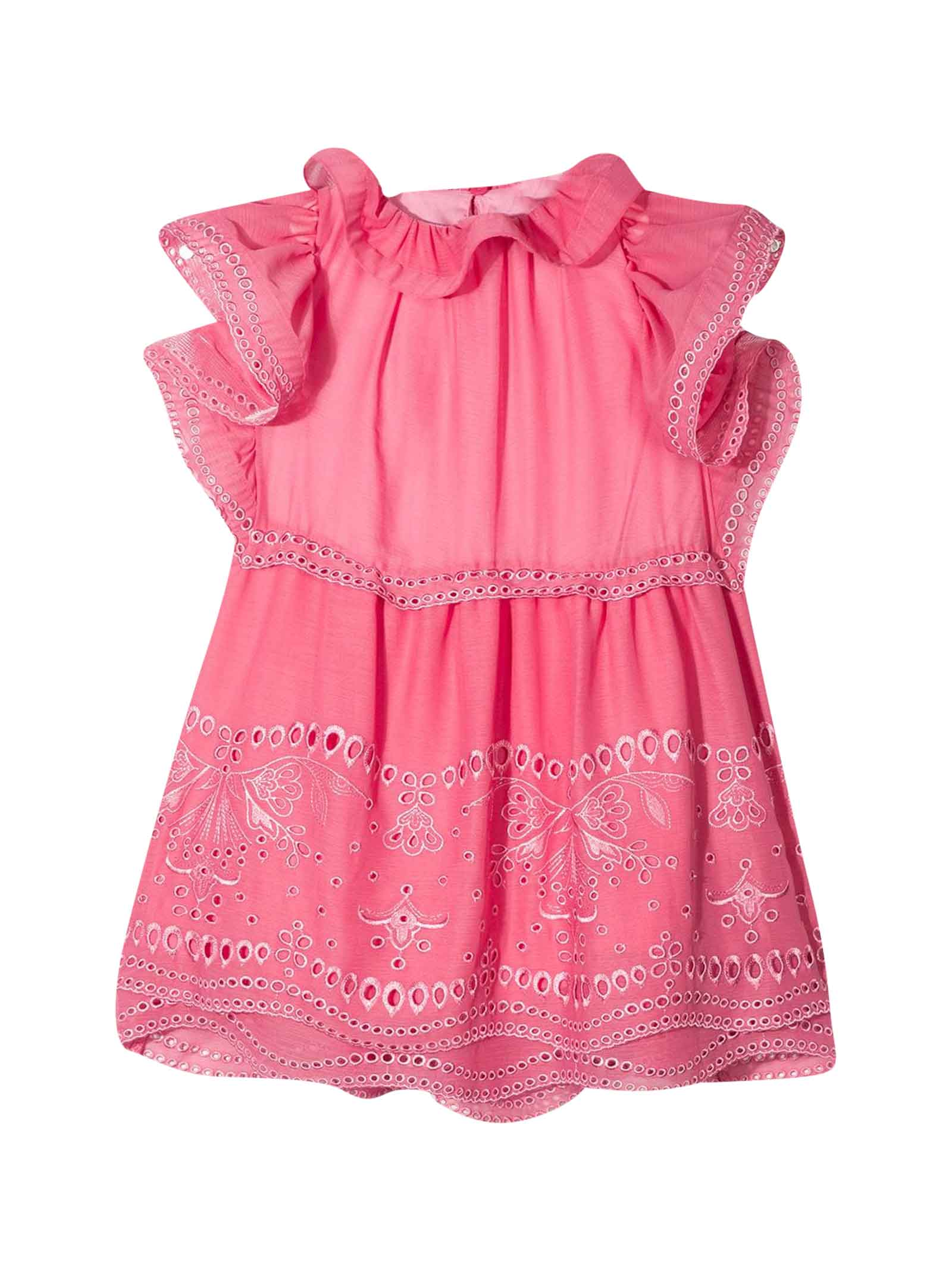Buy Alberta Ferretti Pink Teen Dress online, shop Alberta Ferretti with free shipping