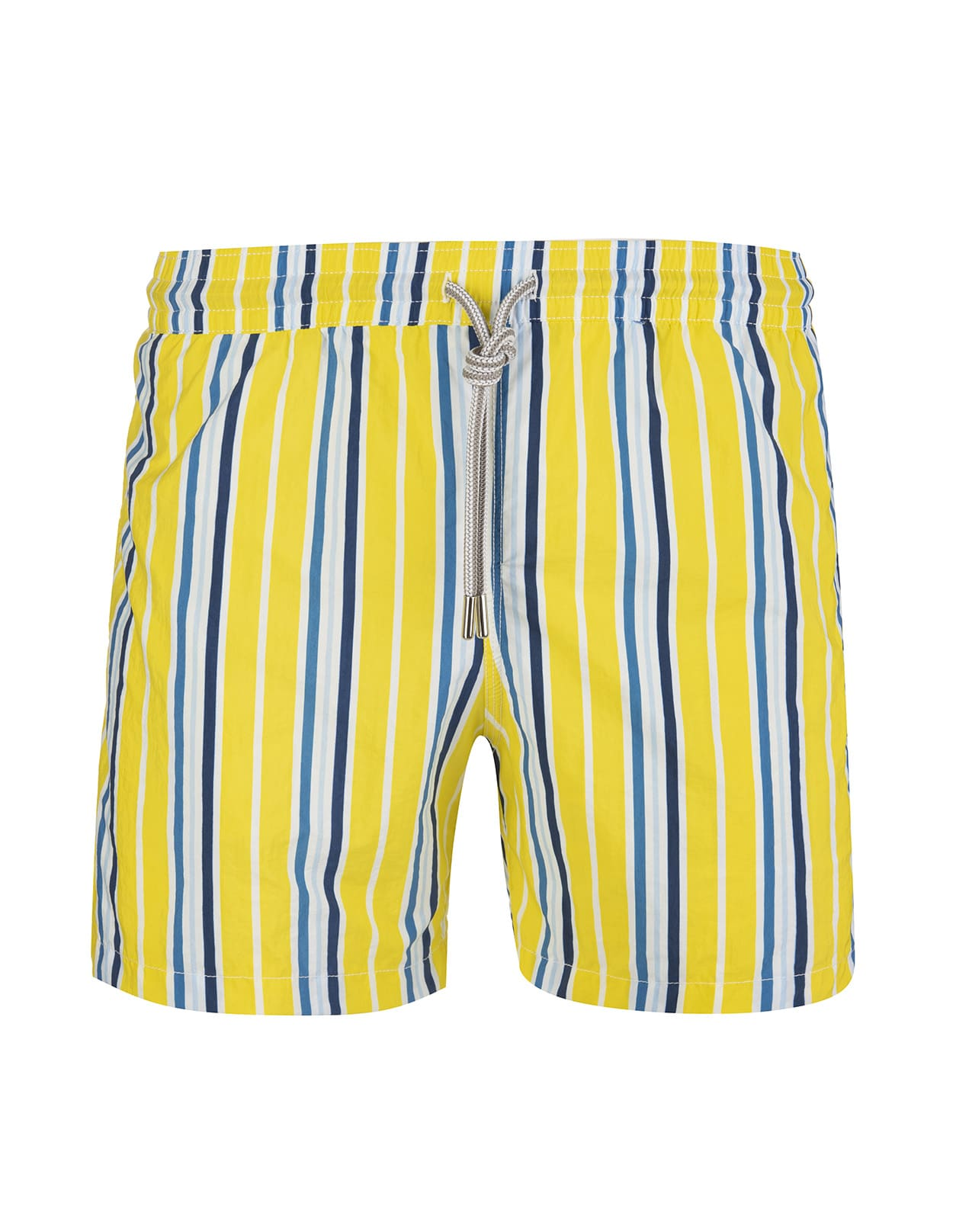 Blue Striped Yellow Swimsuit